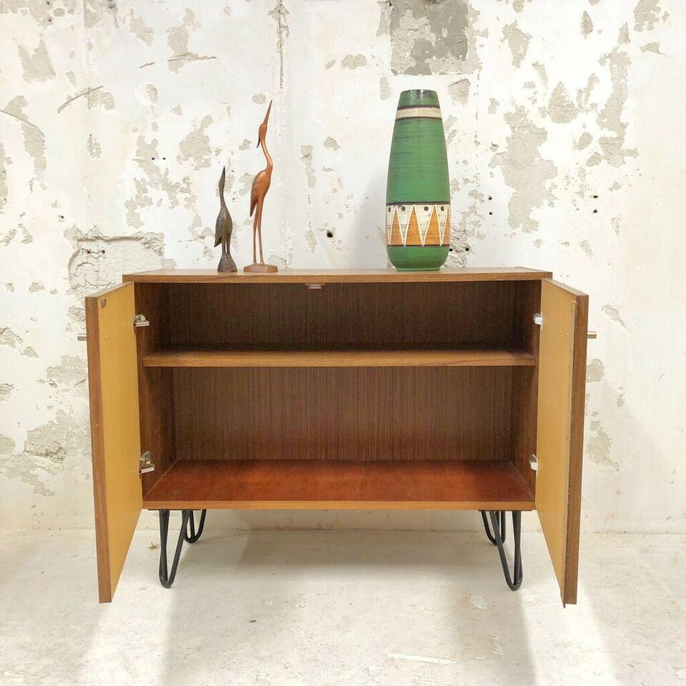 Sideboard / Kommode / Hairpin Legs / Teak / Vintage / Mid Century Regarding Mid Century Brown And Grey Sideboards (View 21 of 30)