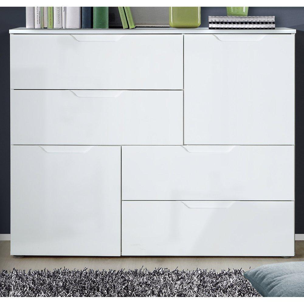 Sideboard Kommode Sienna Weiß Hochglanz 115 X 93 Cm With Regard To Sienna Sideboards (View 16 of 30)