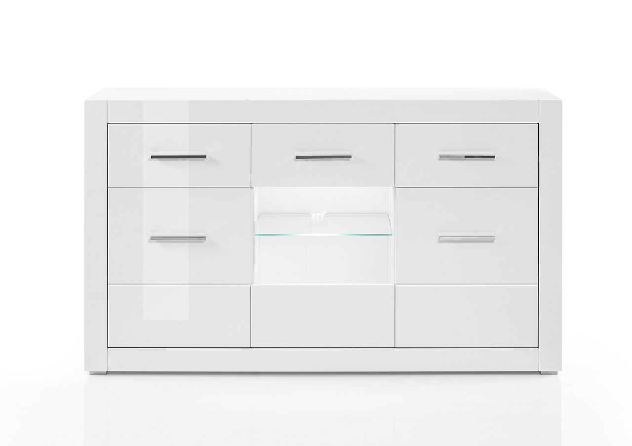 "Sideboard ""sensitive I"" Schrank, Hochglanz Weiß, 164x97x42 Cm With Kendall Sideboards (View 24 of 30)"