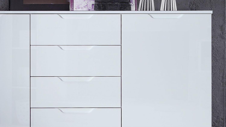 Sideboard Sienna Kommode Anrichte In Weiß Hochglanz Throughout Sienna Sideboards (View 19 of 30)