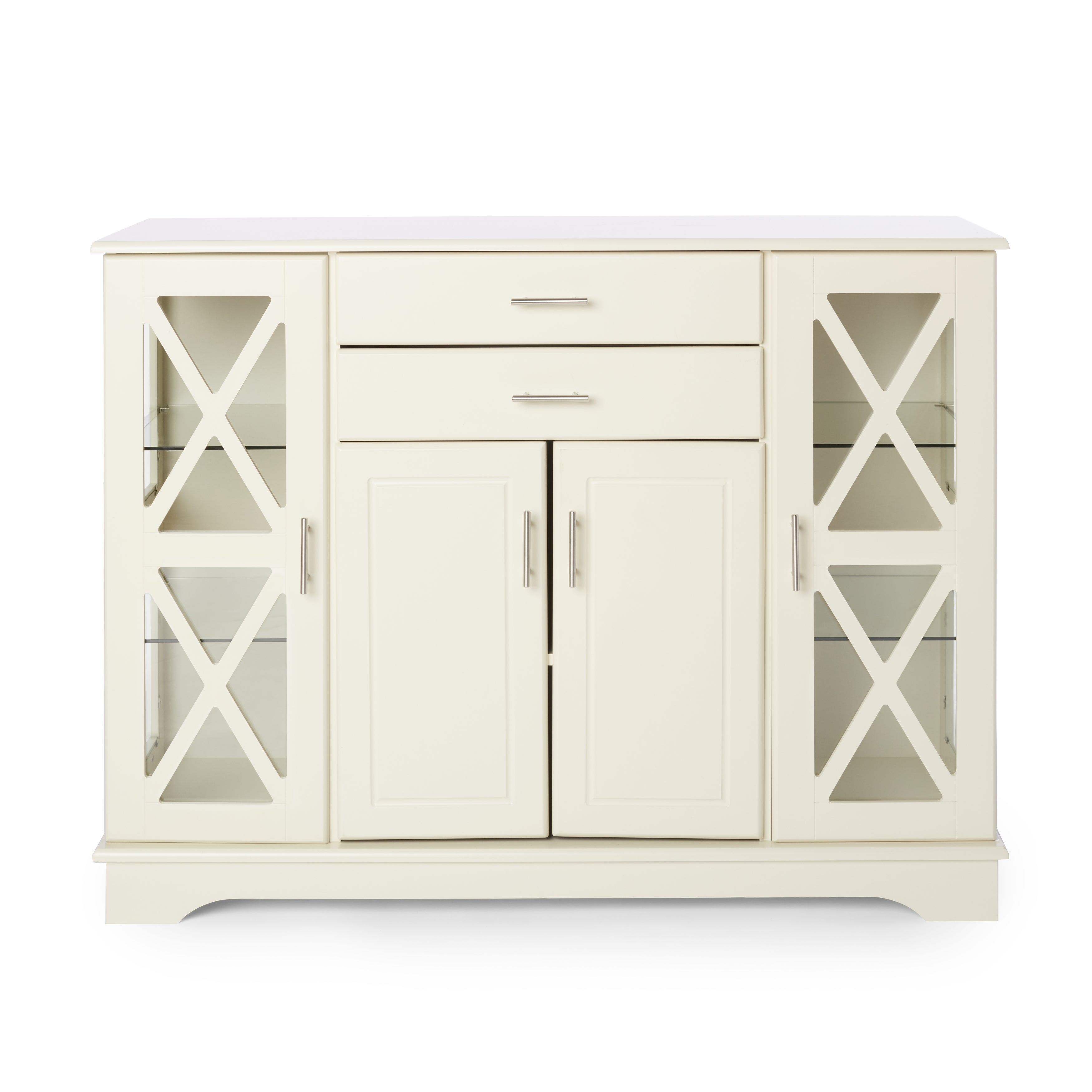 Simple Living Antique White Kendall Buffet Intended For Kendall Sideboards (View 7 of 30)