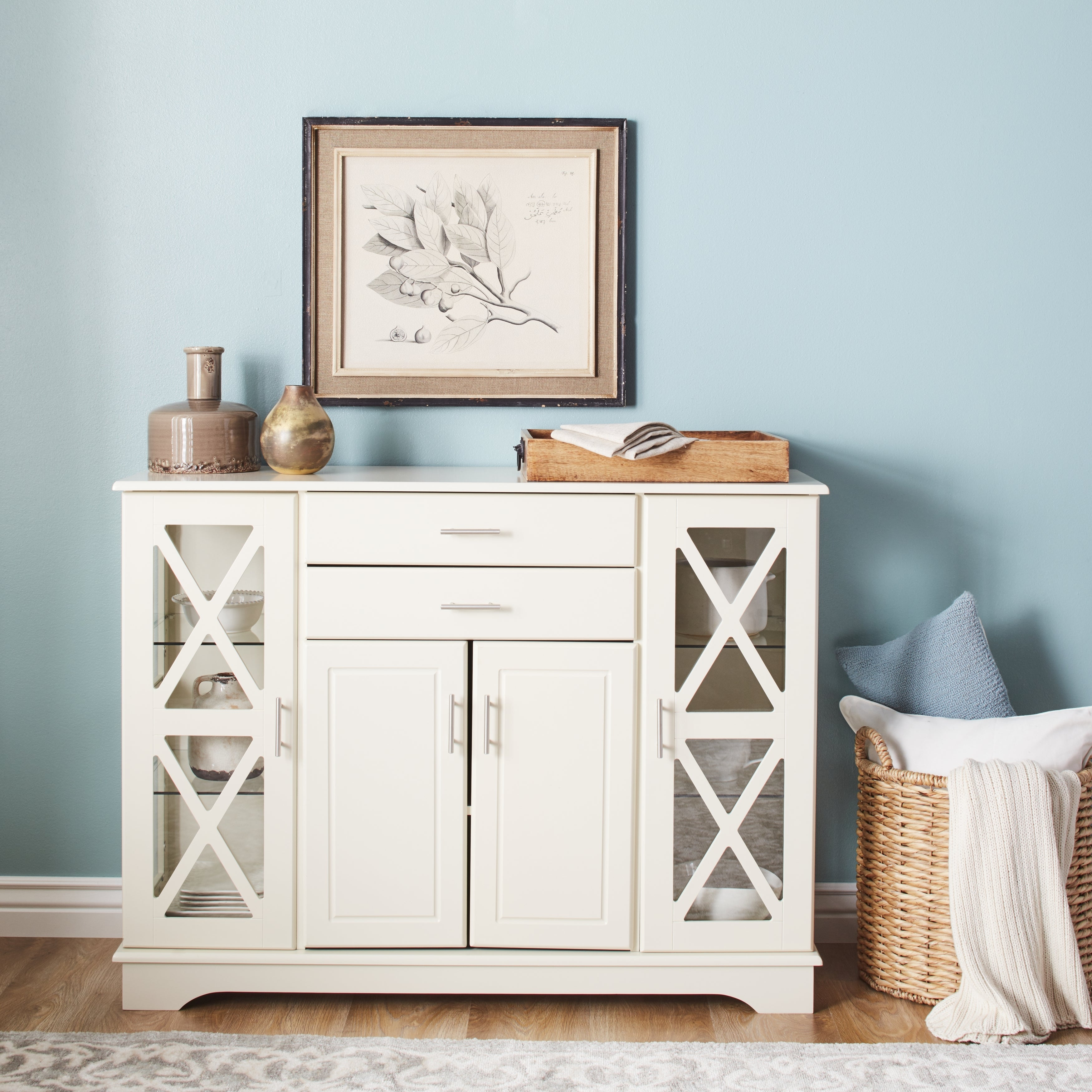 Featured Photo of Simple Living Antique White Kendall Buffets