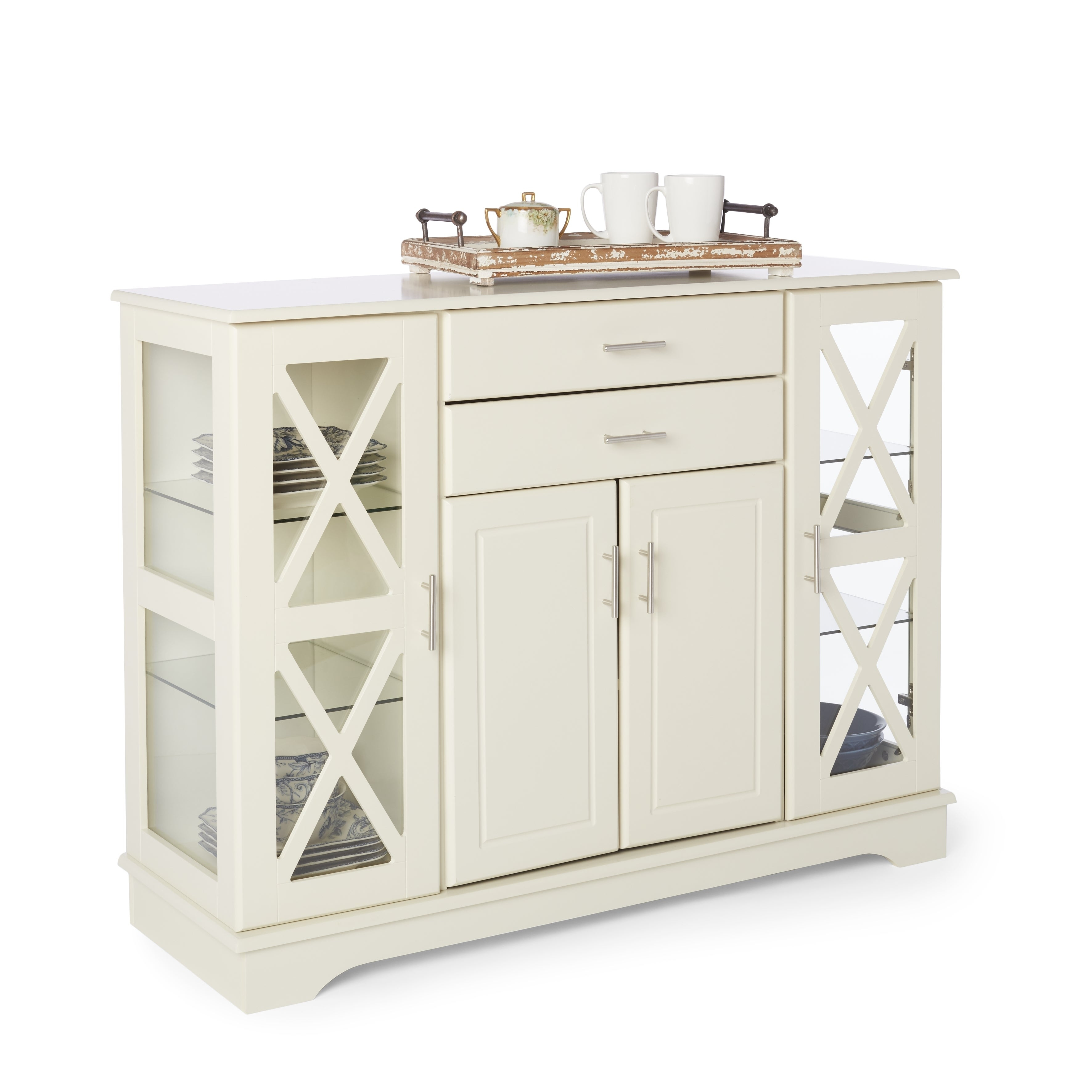 Simple Living Antique White Kendall Buffet With Regard To Kendall Sideboards (View 17 of 30)