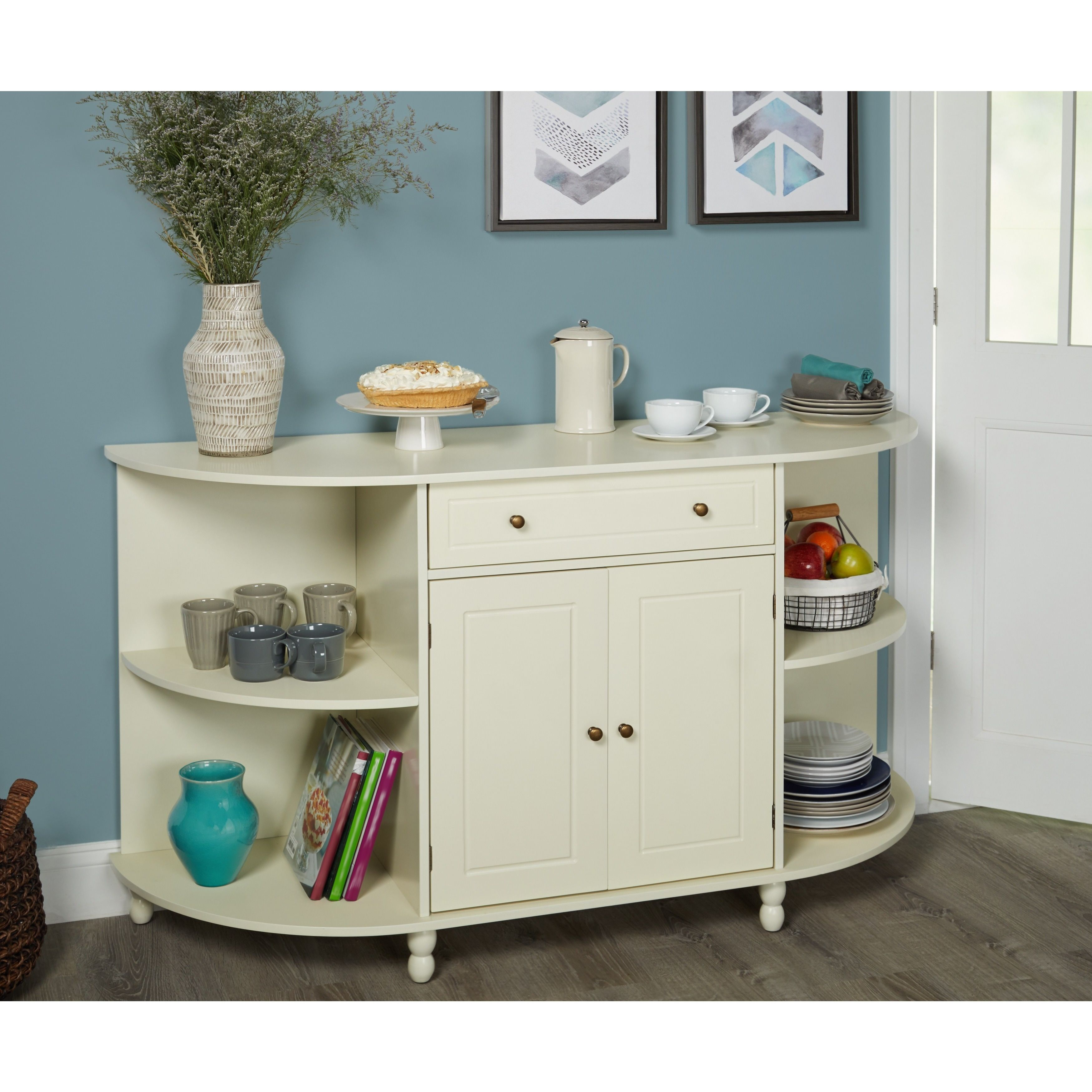Simple Living Grace Buffet (antique White) | Products In Simple Living Antique White Kendall Buffets (View 11 of 30)