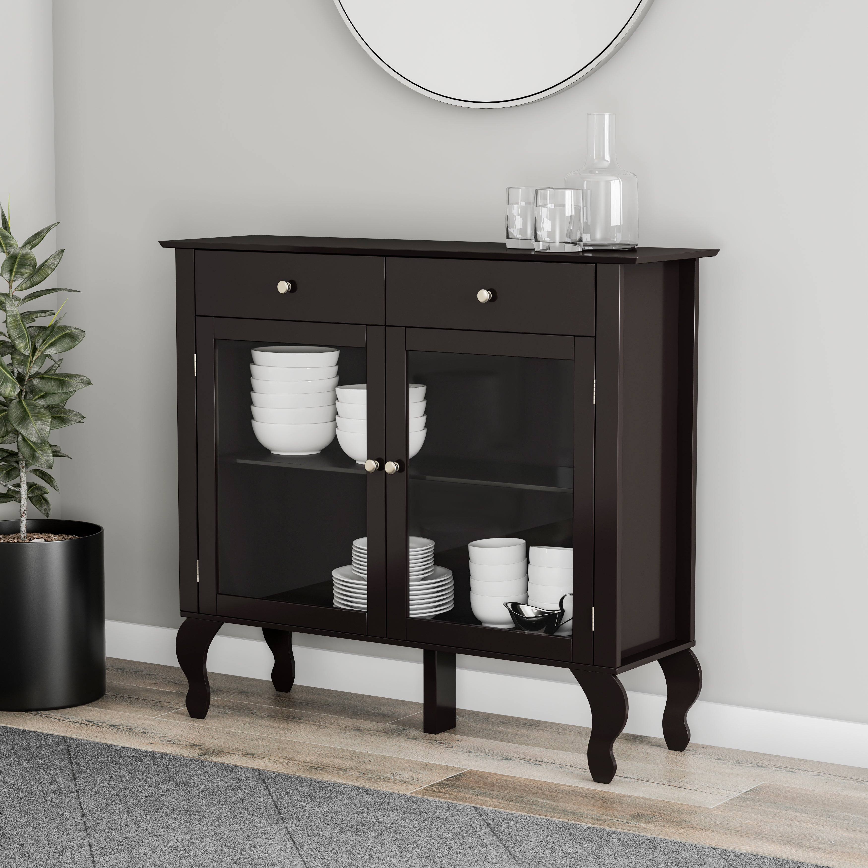Simple Living Layla Black Buffet With Simple Living Montego Black Wooden Buffets (View 22 of 30)
