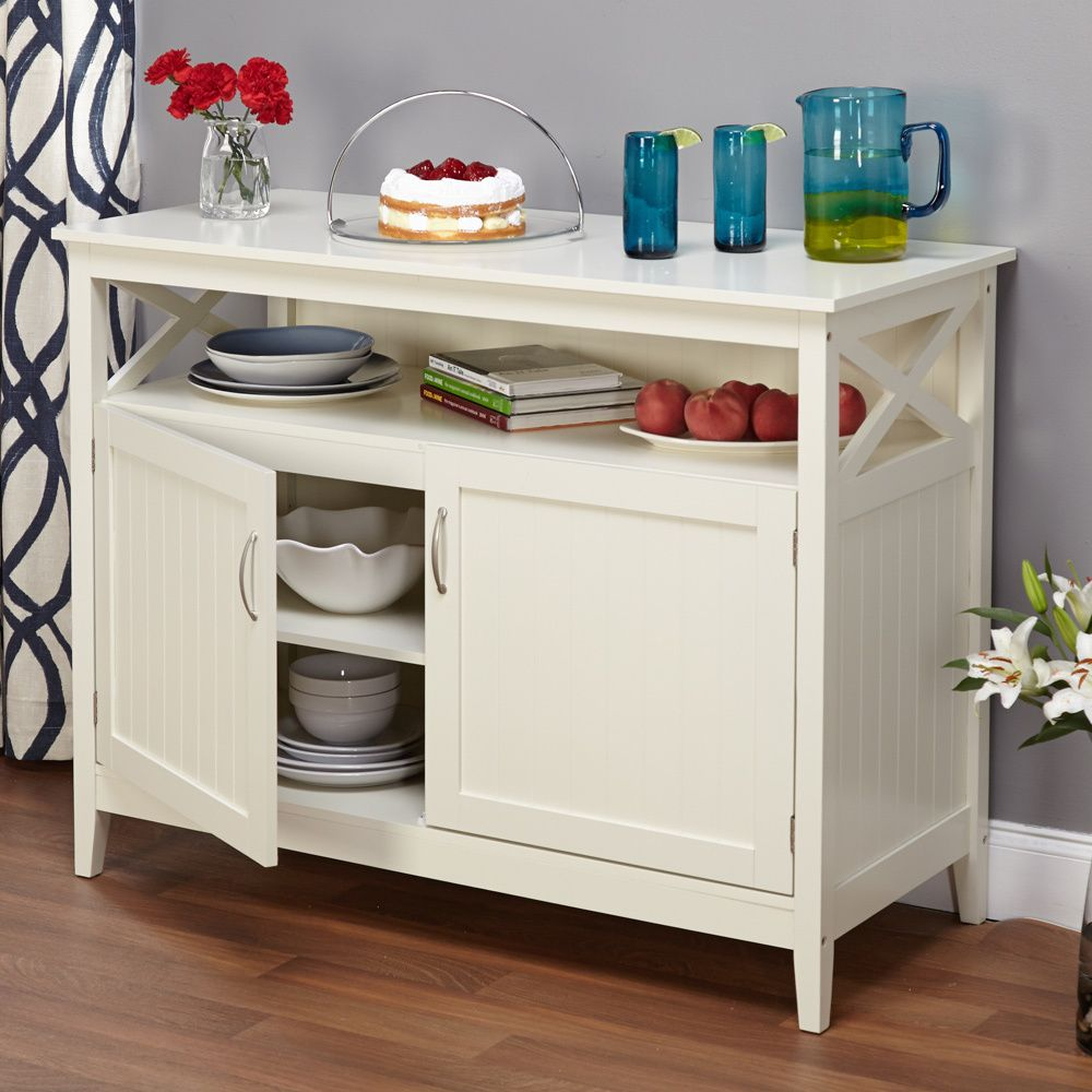 Simple Living Southport Antique White Beadboard Buffet With Simple Living Antique White Kendall Buffets (View 15 of 30)