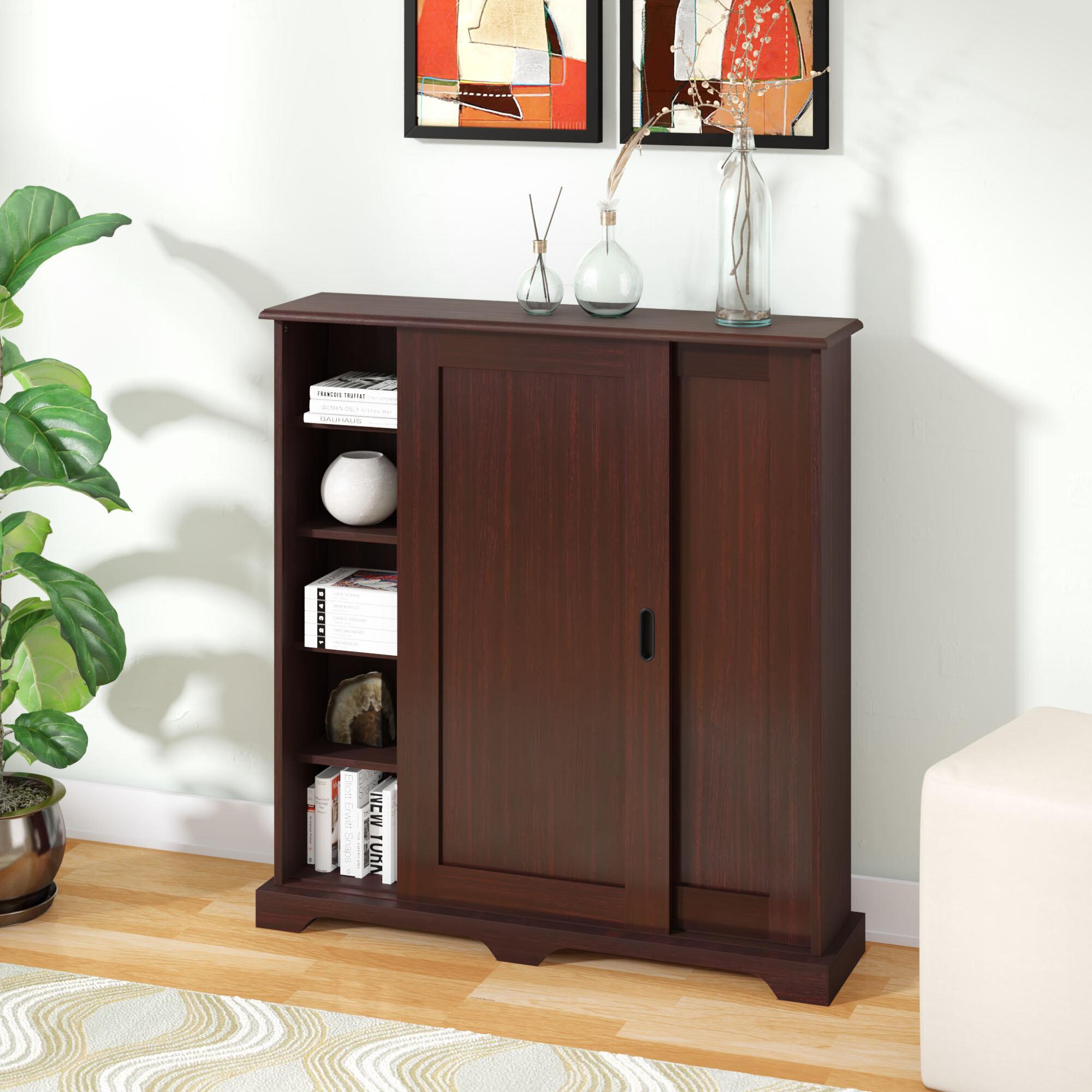 Sliding Door Stackable Cabinet   Wayfair Pertaining To Espresso Sliding Door Stackable Buffets (View 20 of 30)