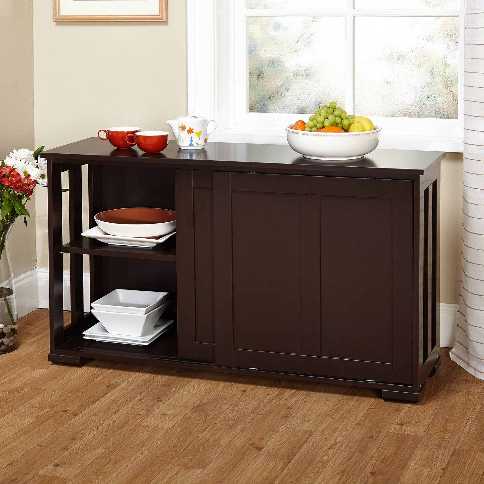Popular Photo of Contemporary Style Wooden Buffets With Two Side Door Storage Cabinets