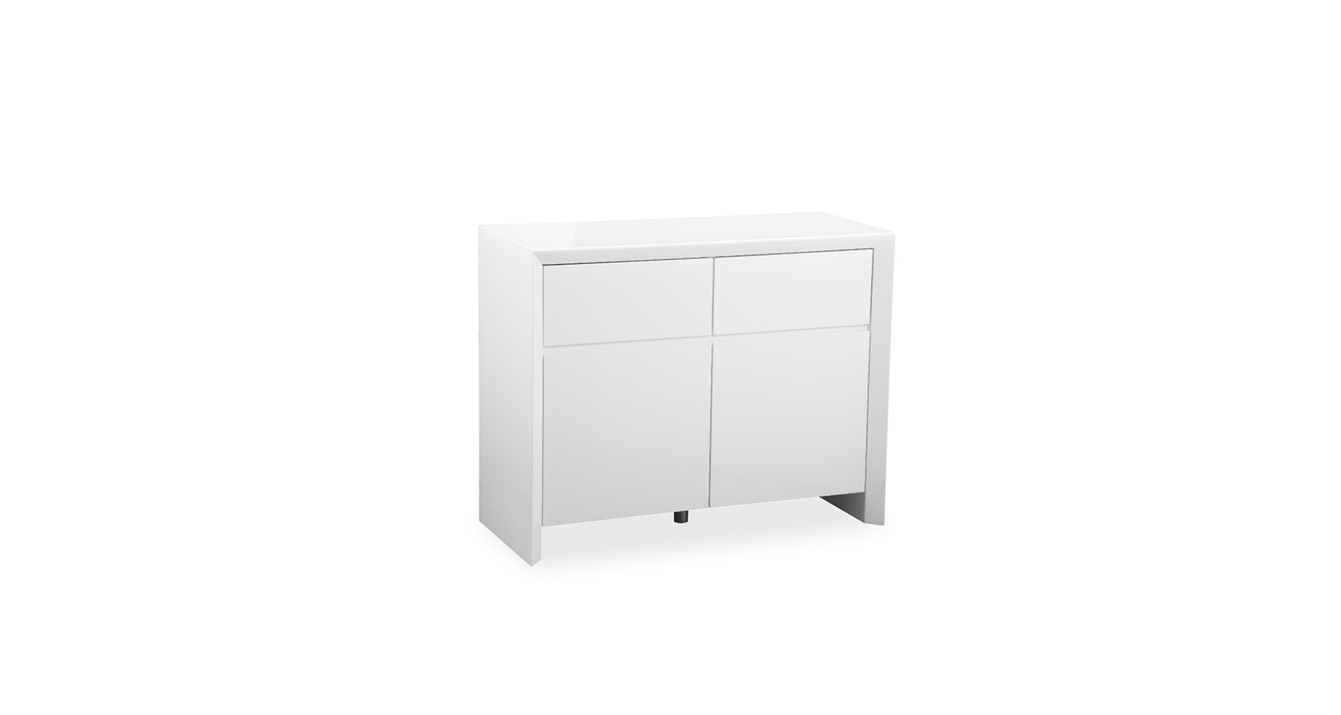 Soho - White - Small Sideboard - High Gloss in Thite Sideboards (Image 25 of 30)