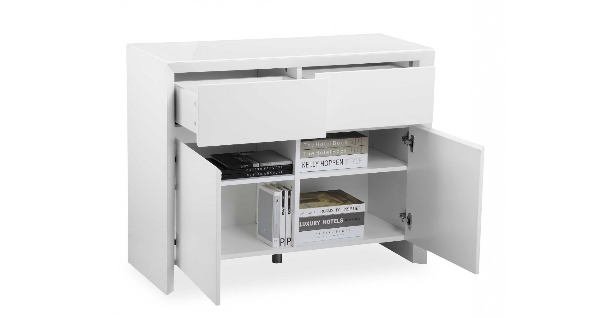 Soho - White - Small Sideboard - High Gloss with Thite Sideboards (Image 26 of 30)