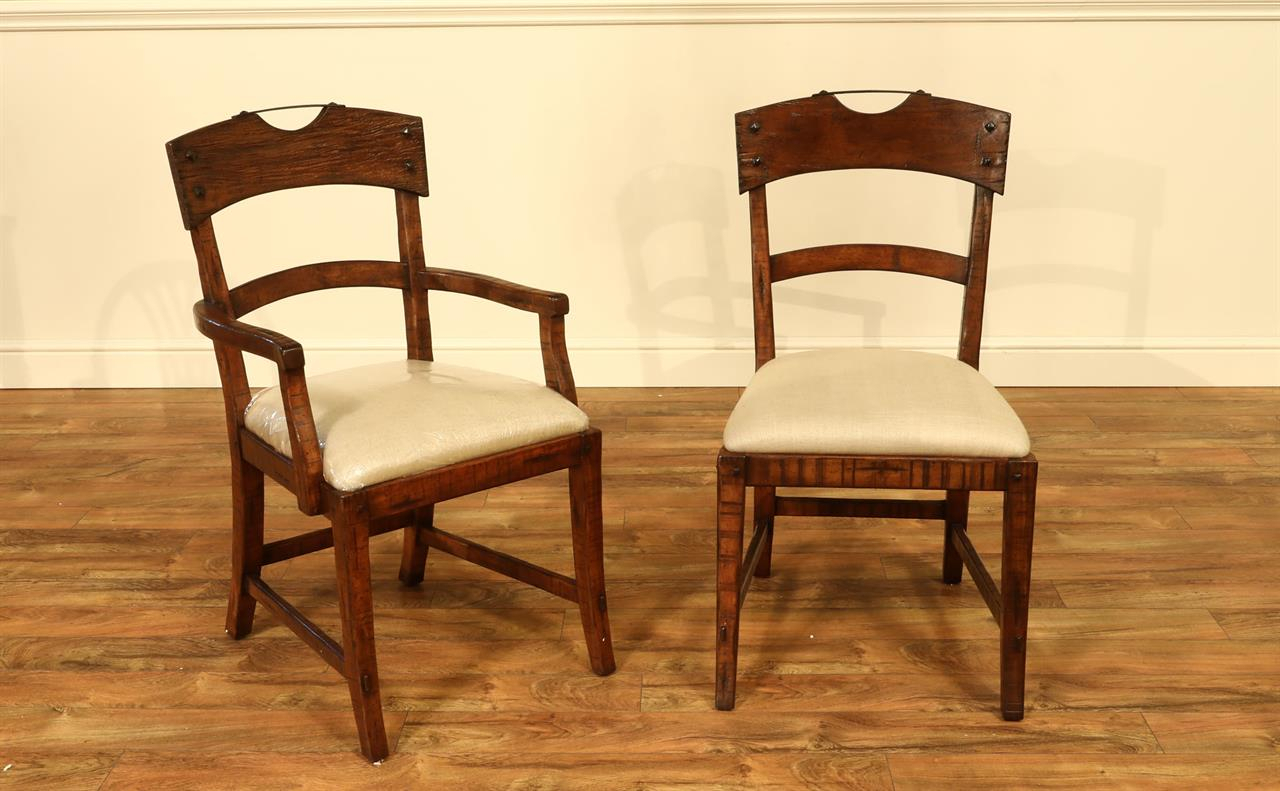 Solid Walnut Dining Room Chairs With Hammer Iron Crest Handles with Rustic Walnut Dining Buffets (Image 29 of 30)
