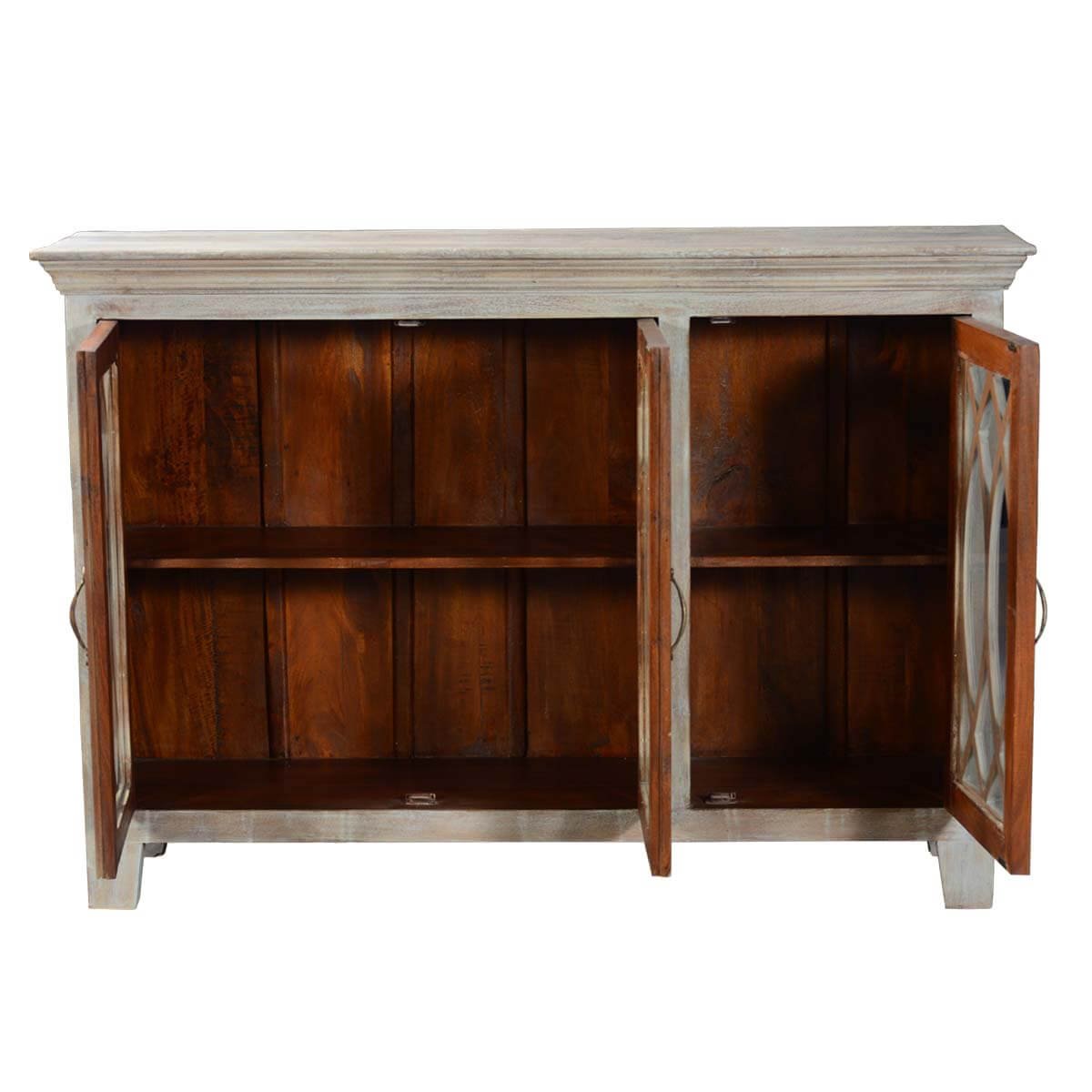Solid Wood Rustic Buffet Palisade Glass Door Sideboard intended for Palisade Sideboards (Image 30 of 30)
