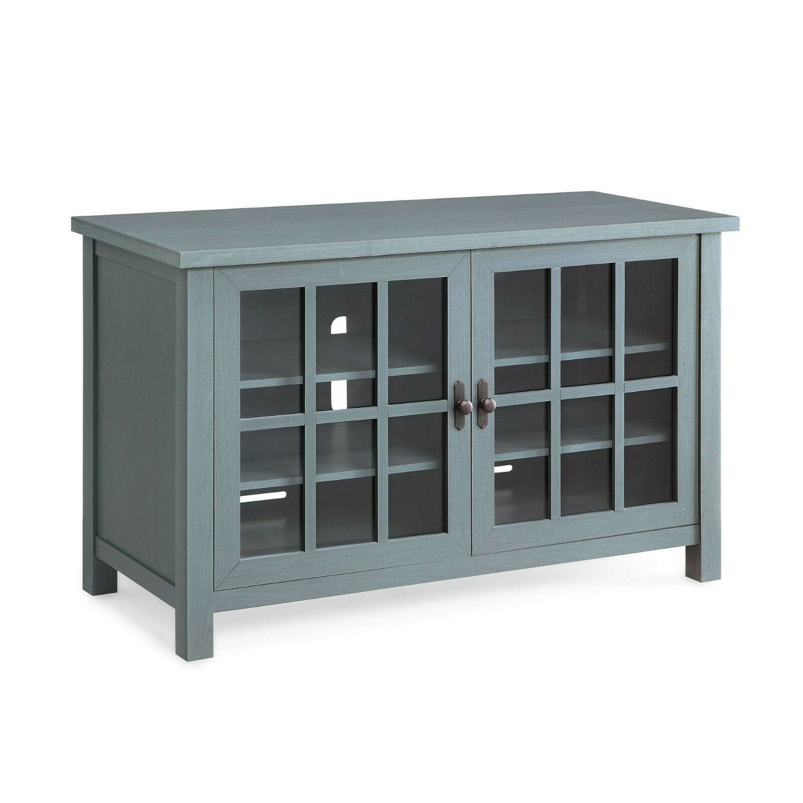 "Square Tv Console For Tvs Up To 55"", Stand And Media Entertainment Center, Blue Regarding Sideboards By Foundry Select (View 27 of 30)"