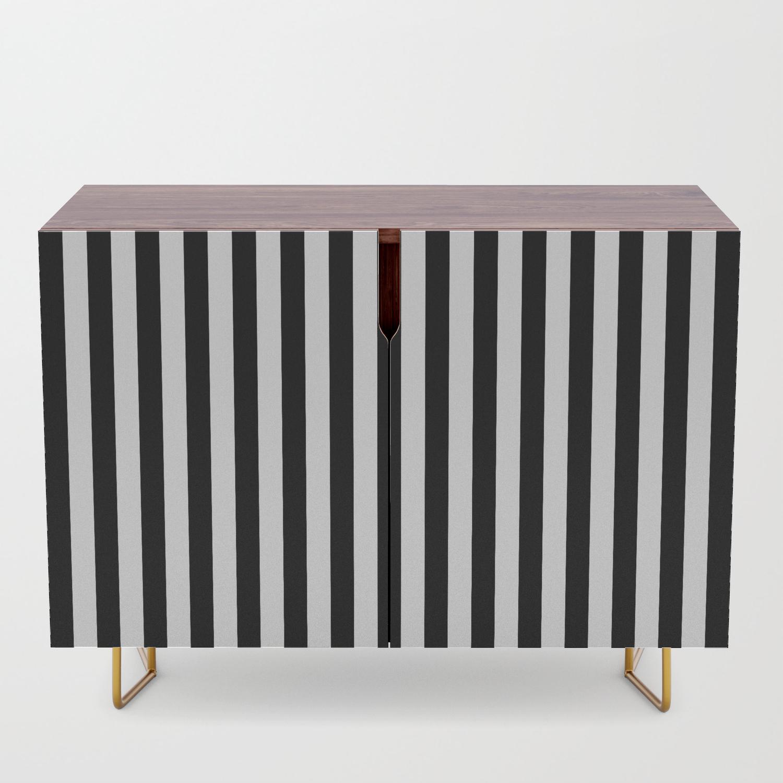 Stripe Black & White Vertical Credenza Pertaining To Beach Stripes Credenzas (View 3 of 30)