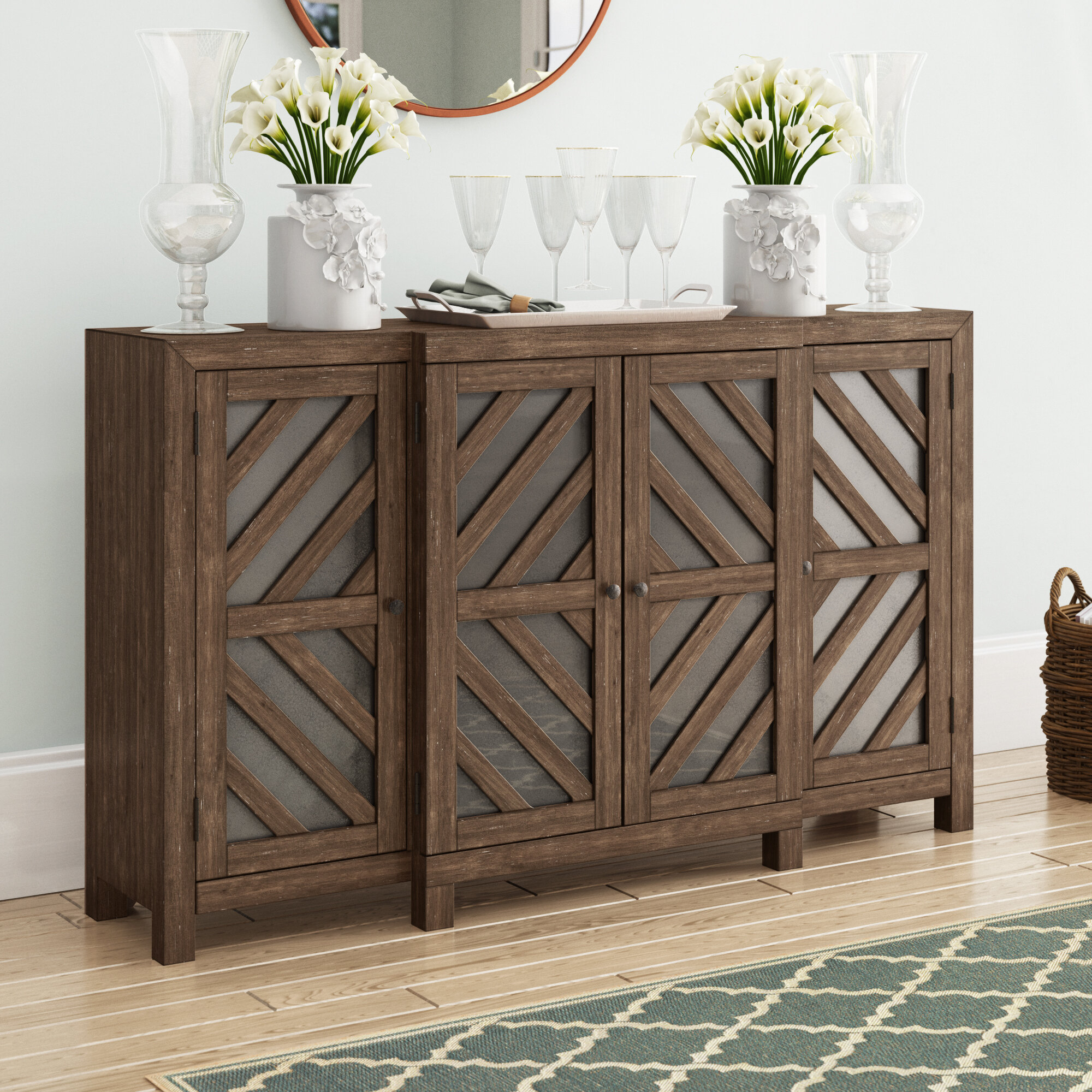 Teal Credenza | Wayfair intended for Colorful Leaves Credenzas (Image 27 of 30)