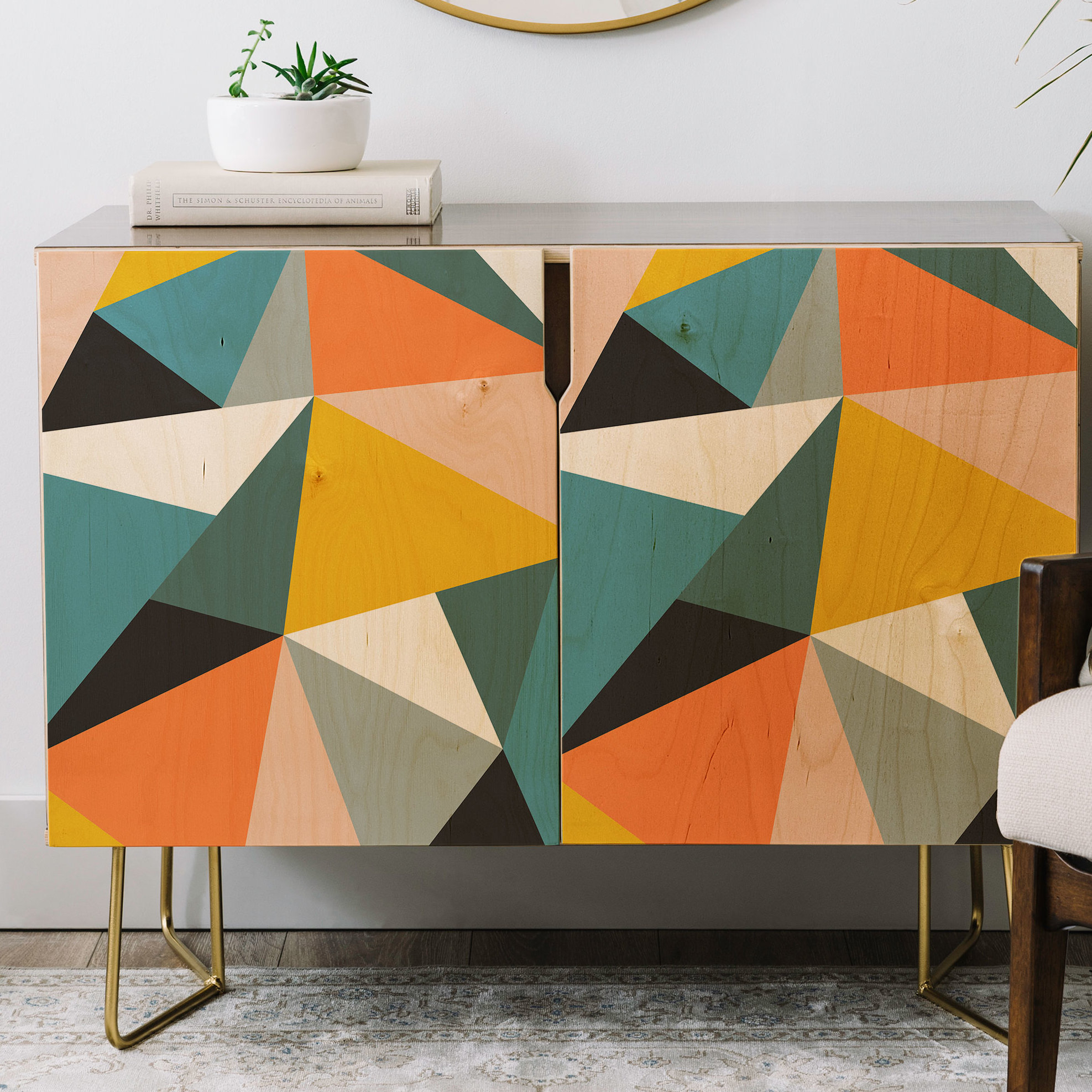 The Old Art Studio Modern Geometric Credenza throughout Multi Colored Geometric Shapes Credenzas (Image 30 of 30)