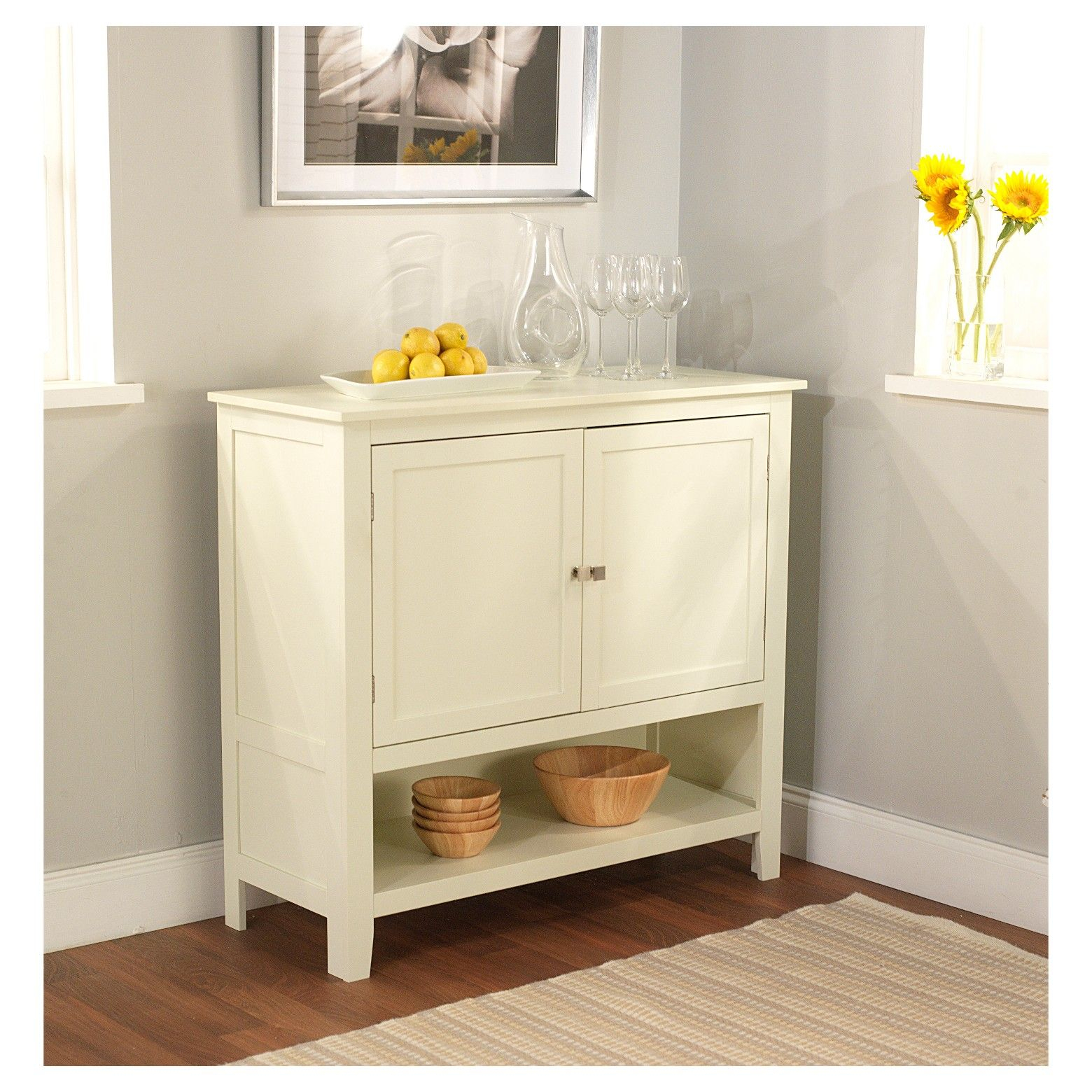 This Antique White Montego Buffet Has A Transitional Style Regarding Simple Living Red Montego Buffets (View 28 of 30)