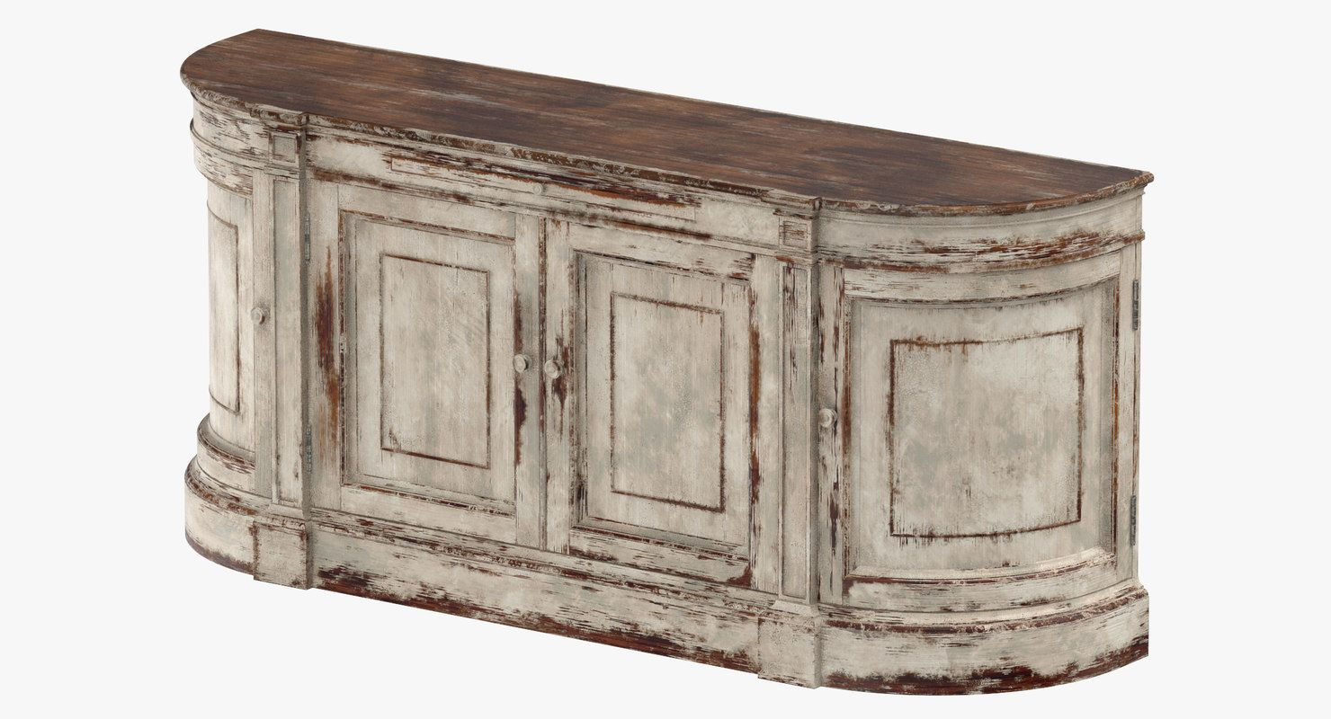 Traditional Sideboard 3D Model | 3D Furniture | Sideboard pertaining to Ilyan Traditional Wood Sideboards (Image 28 of 30)