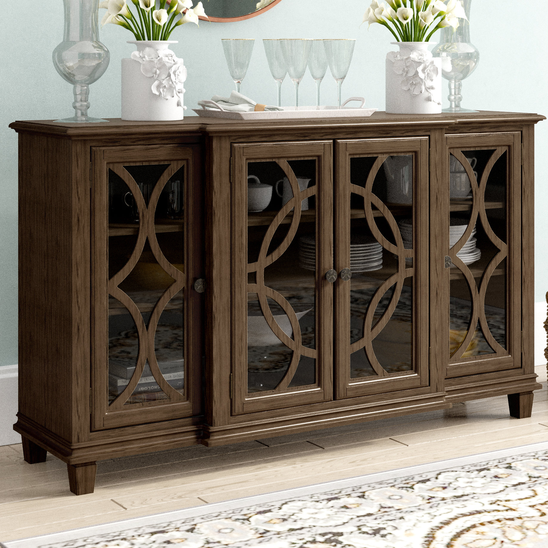 Transitional Buffet | Wayfair pertaining to Saucedo Rustic White Buffets (Image 25 of 30)