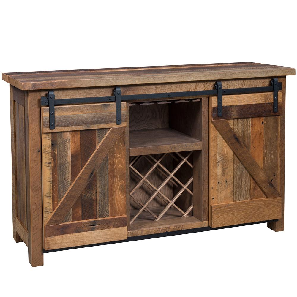 Tremont Barn Door Amish Wine Cabinet For Summer Desire Credenzas (View 26 of 30)