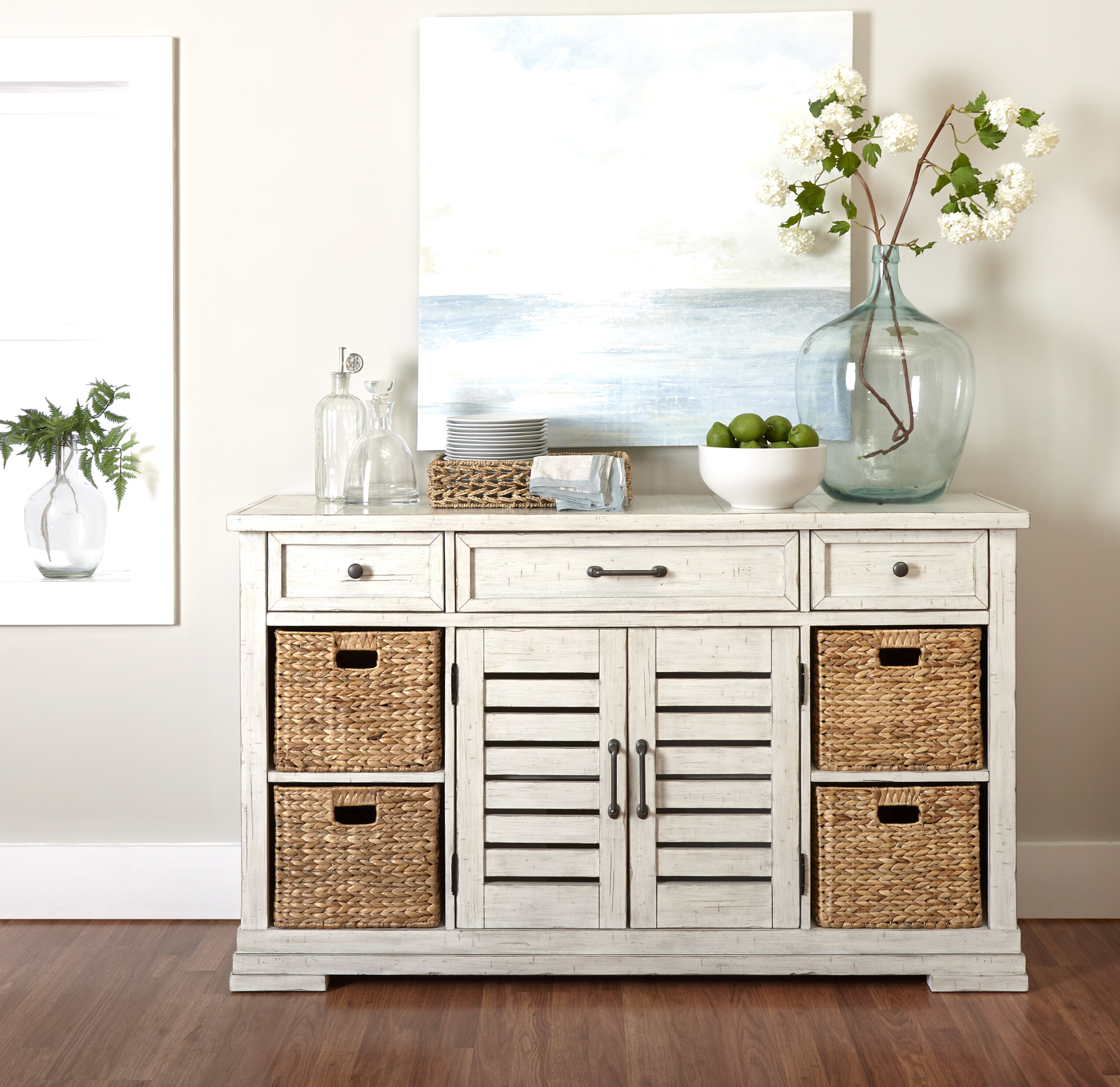 Trisha Yearwood Home Down Sideboard within Baleine 3 Drawer Sideboards (Image 29 of 30)