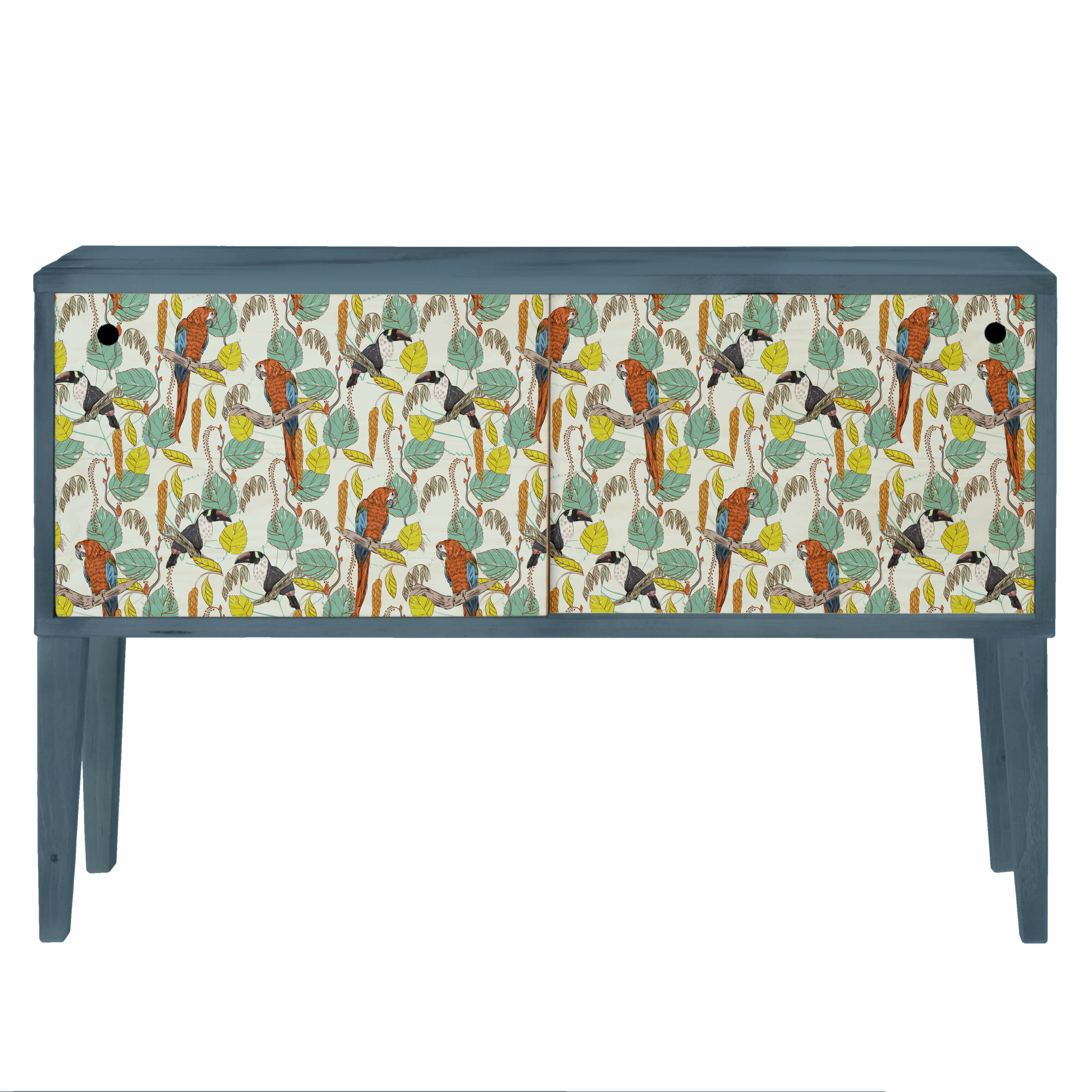 Tropical Parrots 2 Door Sideboard intended for Sideboards by Wildon Home (Image 24 of 30)