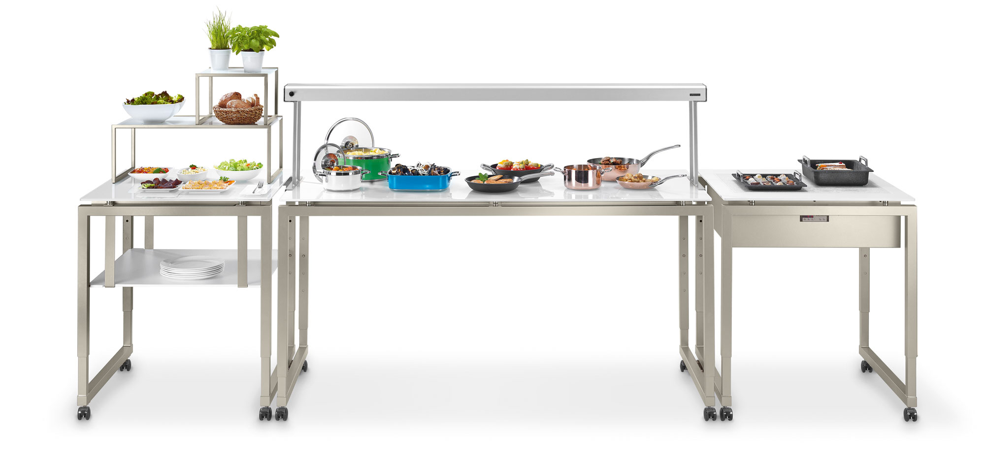 Venta Modular Buffet System – Ventadesign Throughout Contemporary Three Tier Glass Buffets With Black Metal Frame (View 30 of 30)