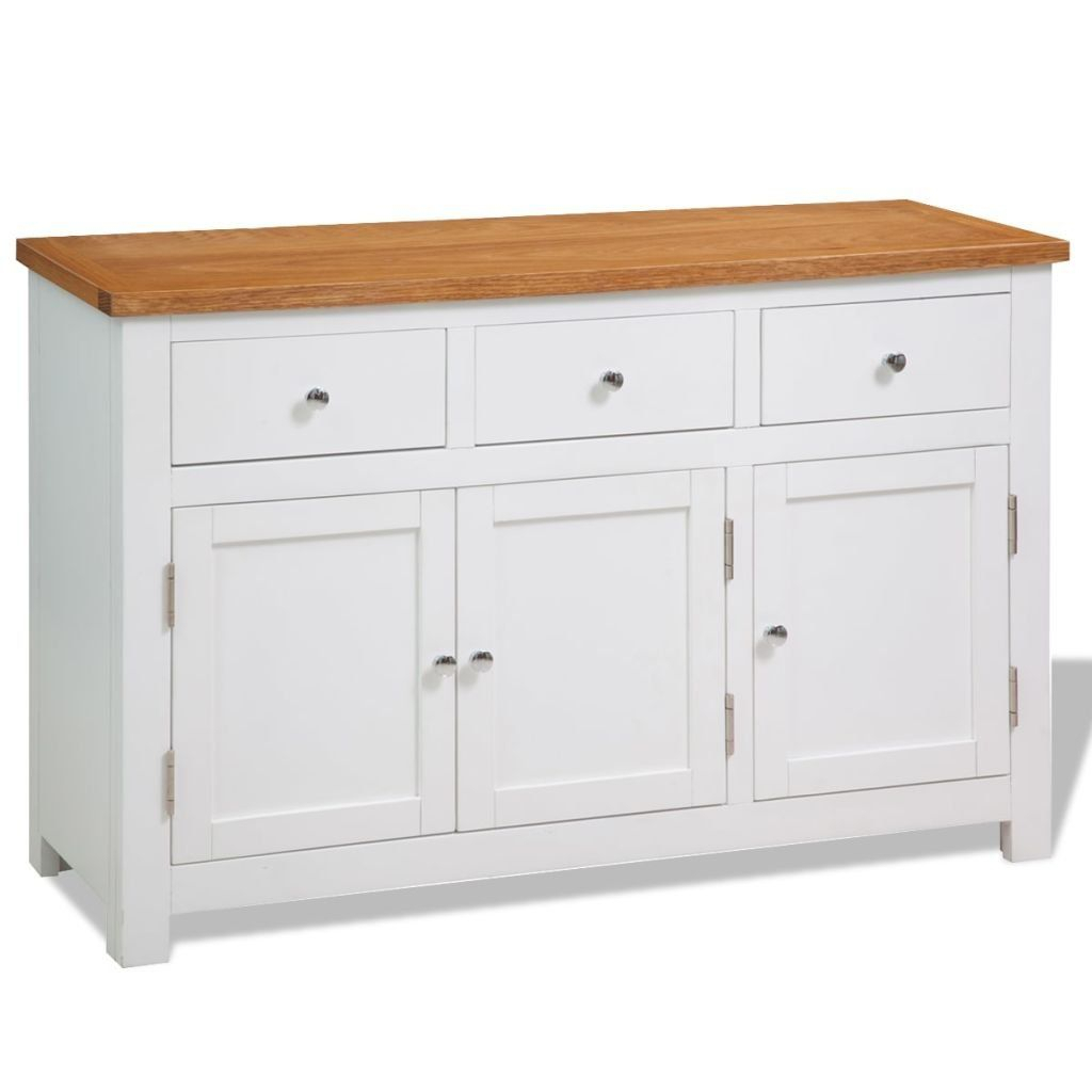 Vidaxl Sideboard Oak Storage Console Cabinet Hall Table Intended For Amityville Sideboards (Image 29 of 30)