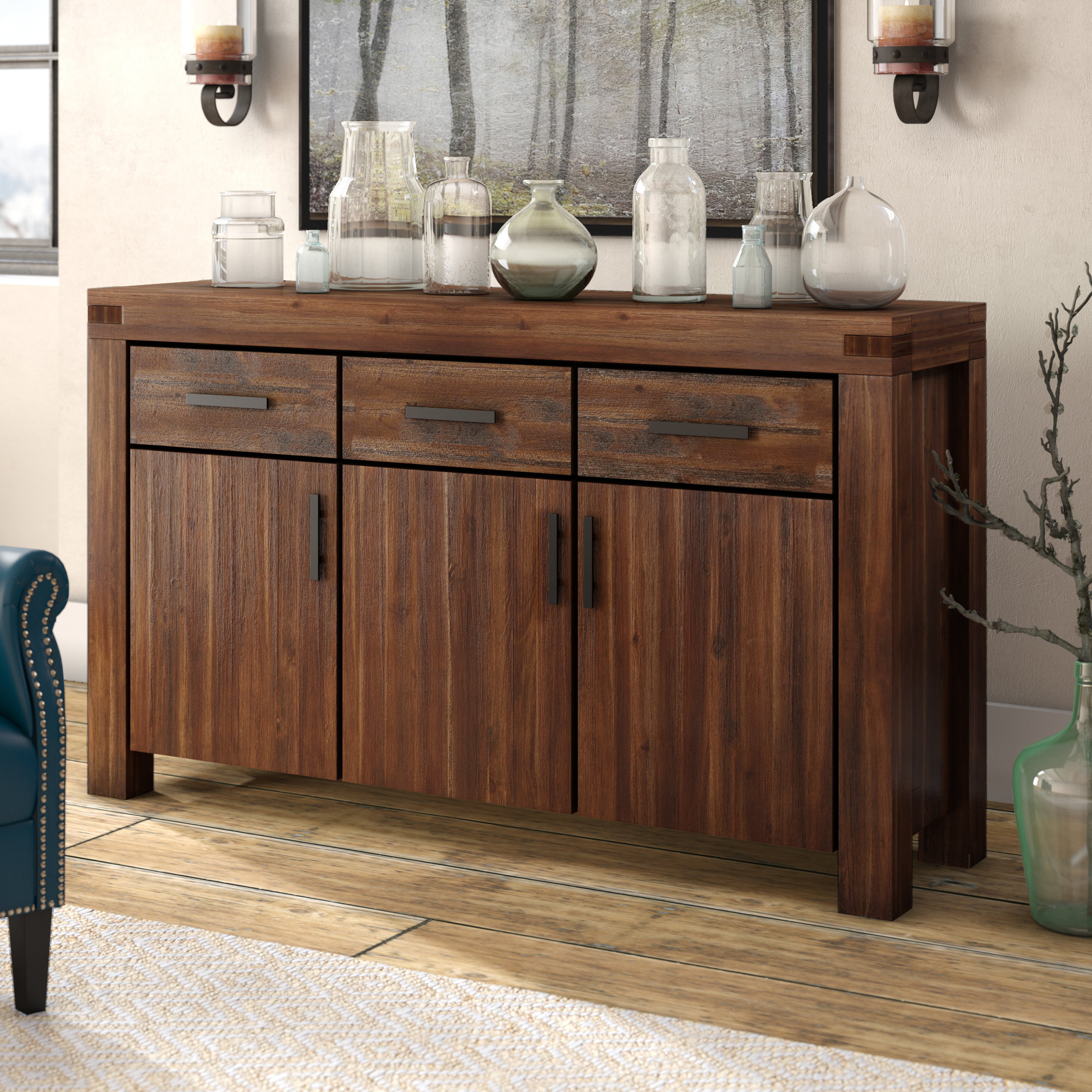 Vintage Credenza You'll Love In 2019 | Wayfair with Candide Wood Credenzas (Image 30 of 30)