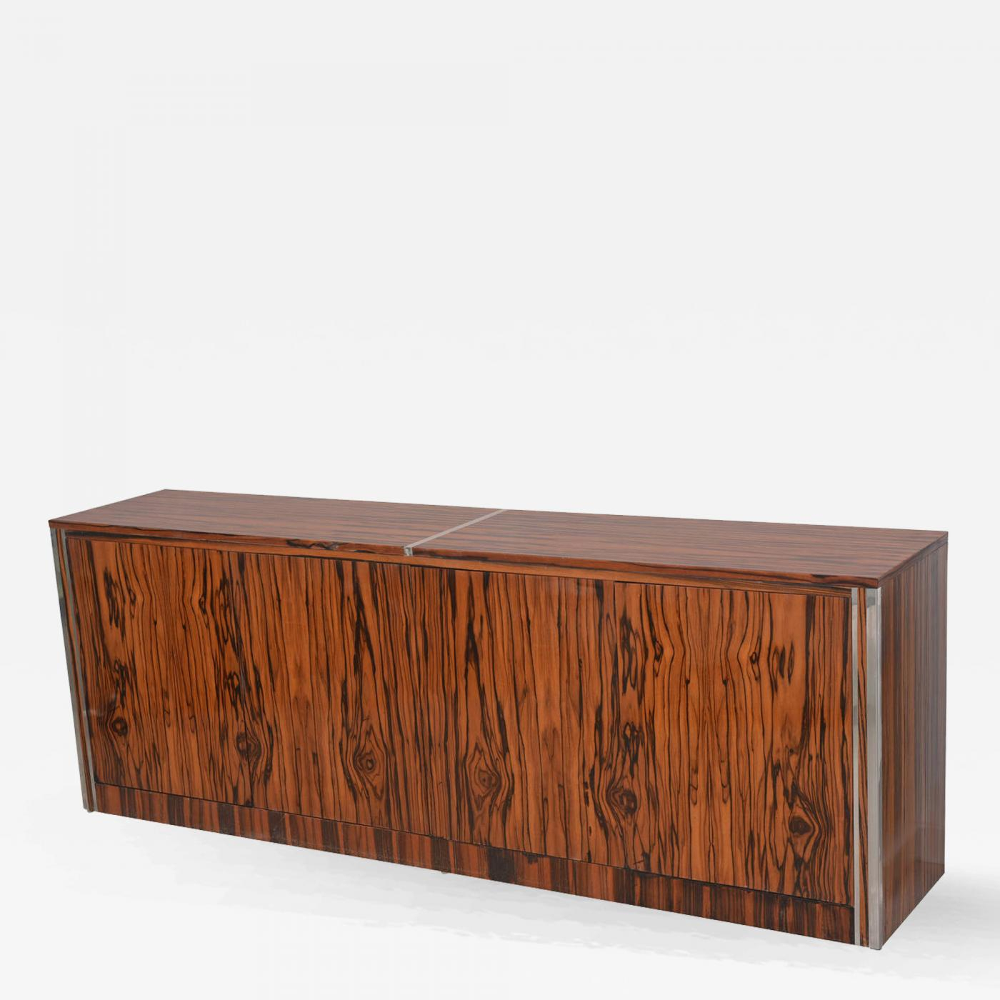 Vintage Mid Century Modern Zebrawood Cabinet, Credenza For Beach Stripes Credenzas (View 21 of 30)
