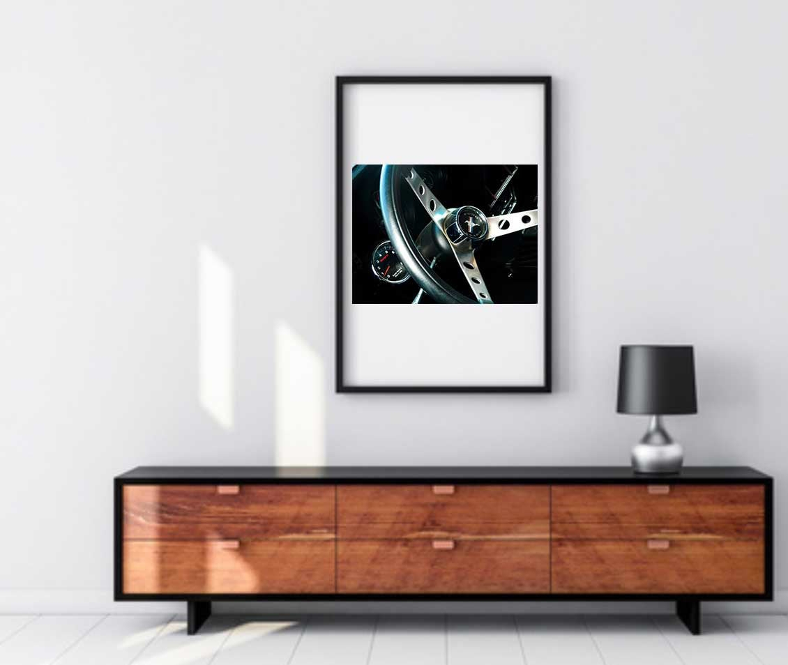 Vintage Mustang Print, Ford Photography, Ford Mustang with Massillon Sideboards (Image 28 of 30)
