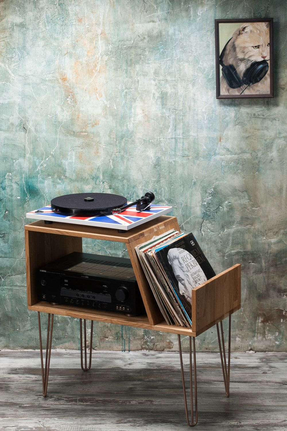 Vinyl Record Storage, Record Player Cabinet, Media Console For Summer Desire Credenzas (View 28 of 30)