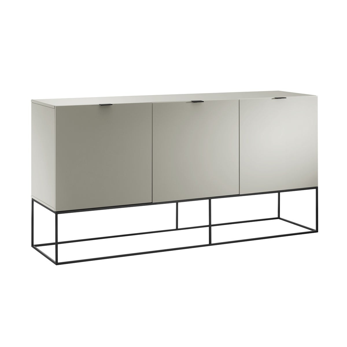 Vizzione High Gloss Light Gray Lacquer Buffetcasabianca Home For White Wood And Chrome Metal High Gloss Buffets (View 7 of 30)