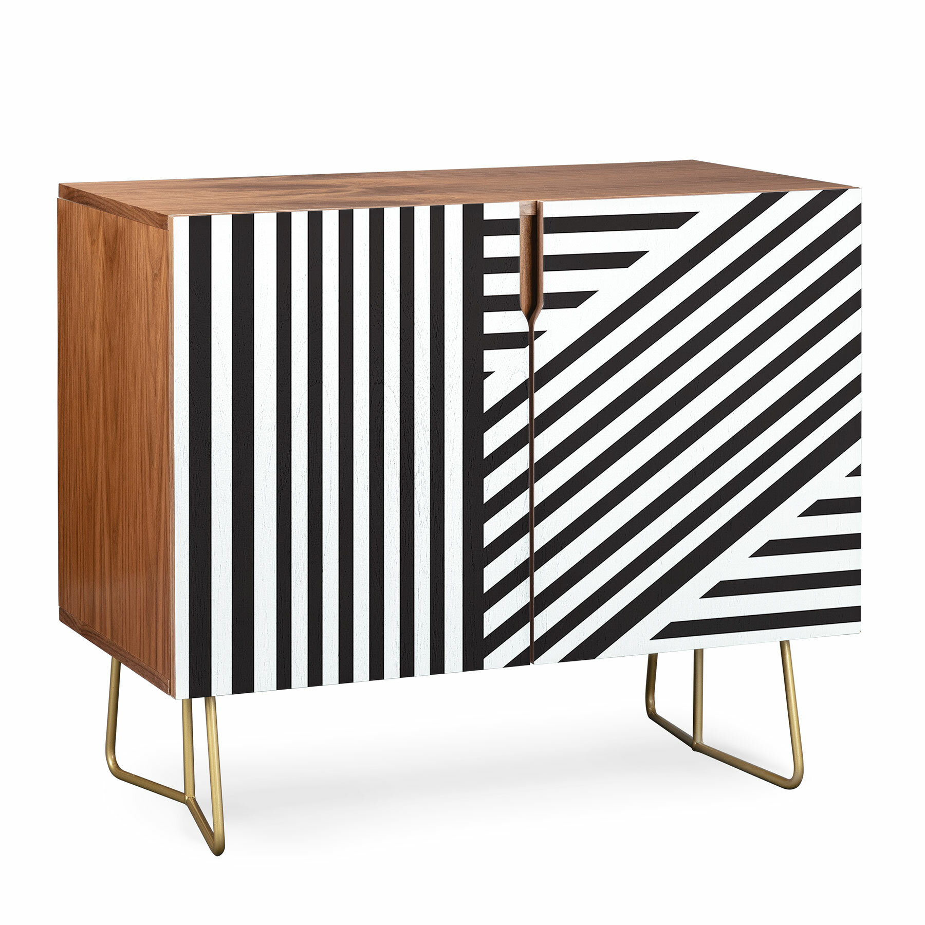 Vy La Everything Nice Credenza with Multi Stripe Credenzas (Image 29 of 30)