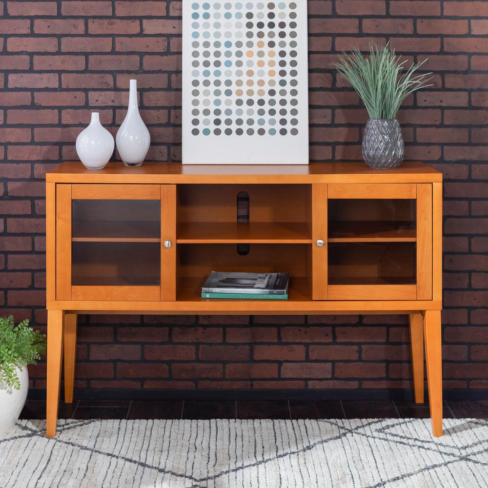 Walker Edison Furniture Company 52 In. Hepworth Wood Buffet within Solid and Composite Wood Buffets in Cappuccino Finish (Image 23 of 30)