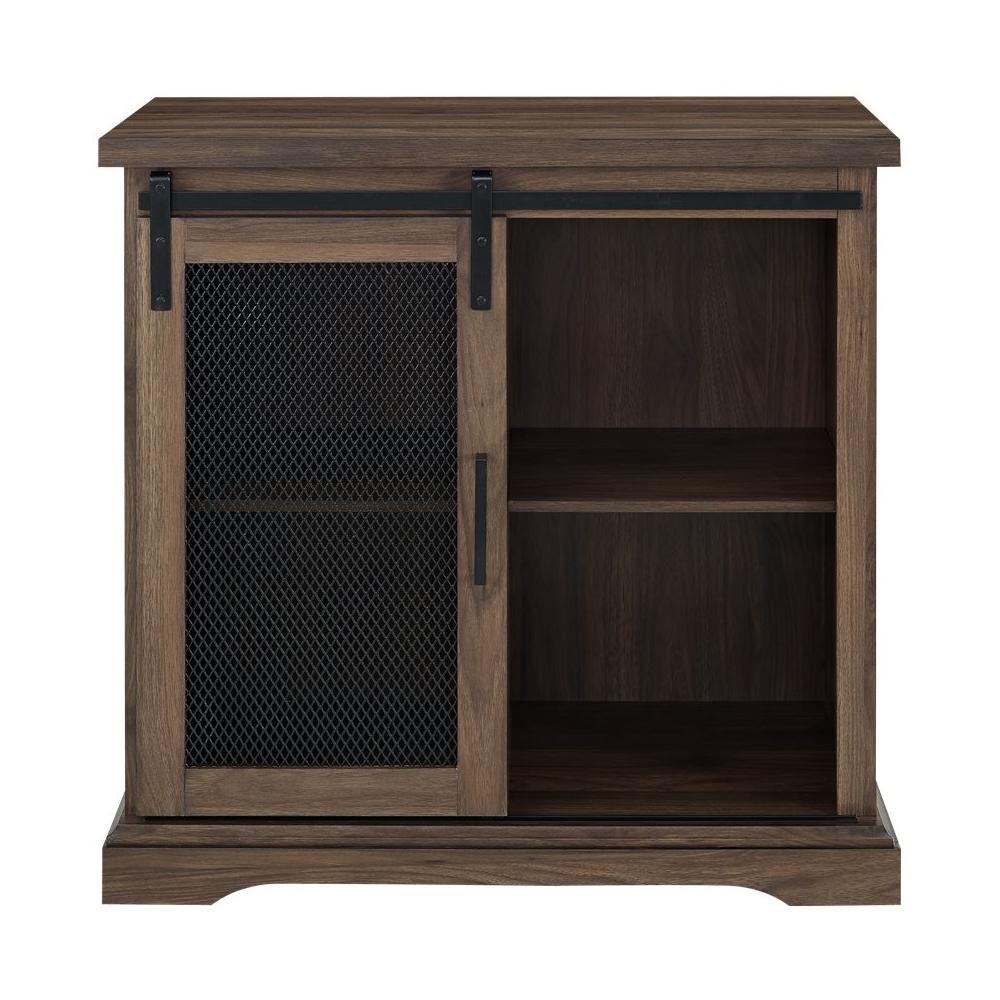 Walker Edison – Sliding Metal Mesh Door Modern Buffet Pertaining To Fugate 2 Door Credenzas (View 15 of 30)