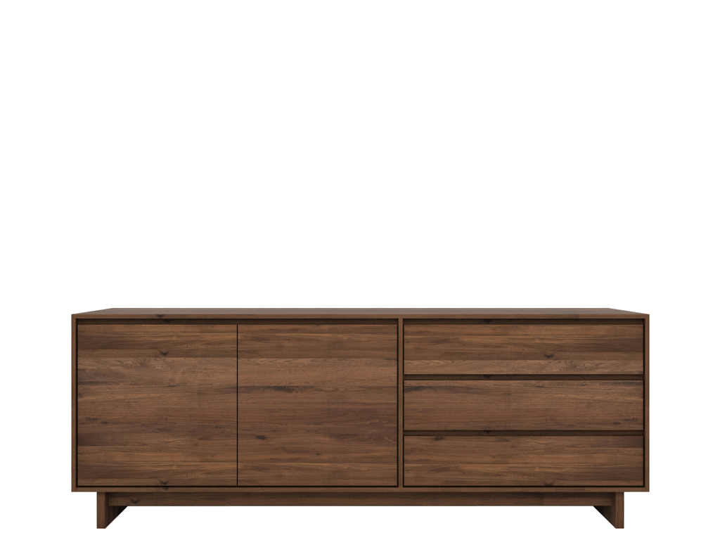 Wave Walnut Sideboard With Regard To South Miami Sideboards (View 30 of 30)