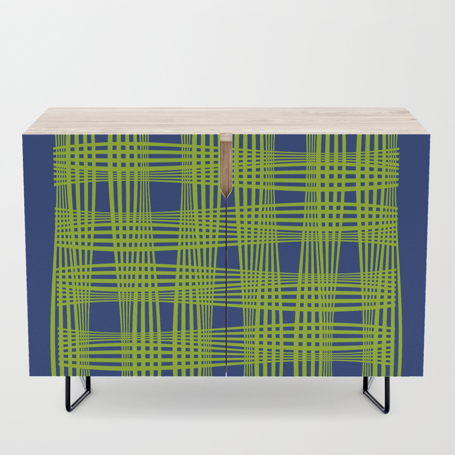 Wavy Weave Credenza With Beach Stripes Credenzas (View 12 of 30)