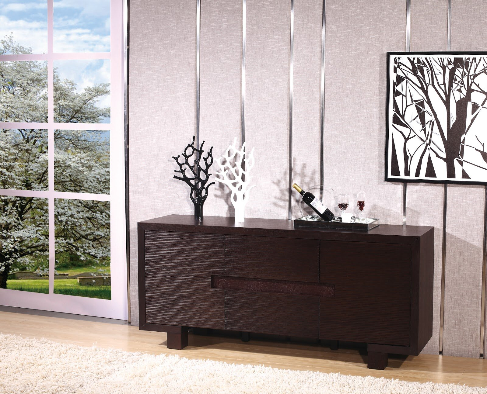 Wenge Buffet | Wayfair With Strick & Bolton Dallas Walnut Buffets (View 11 of 30)
