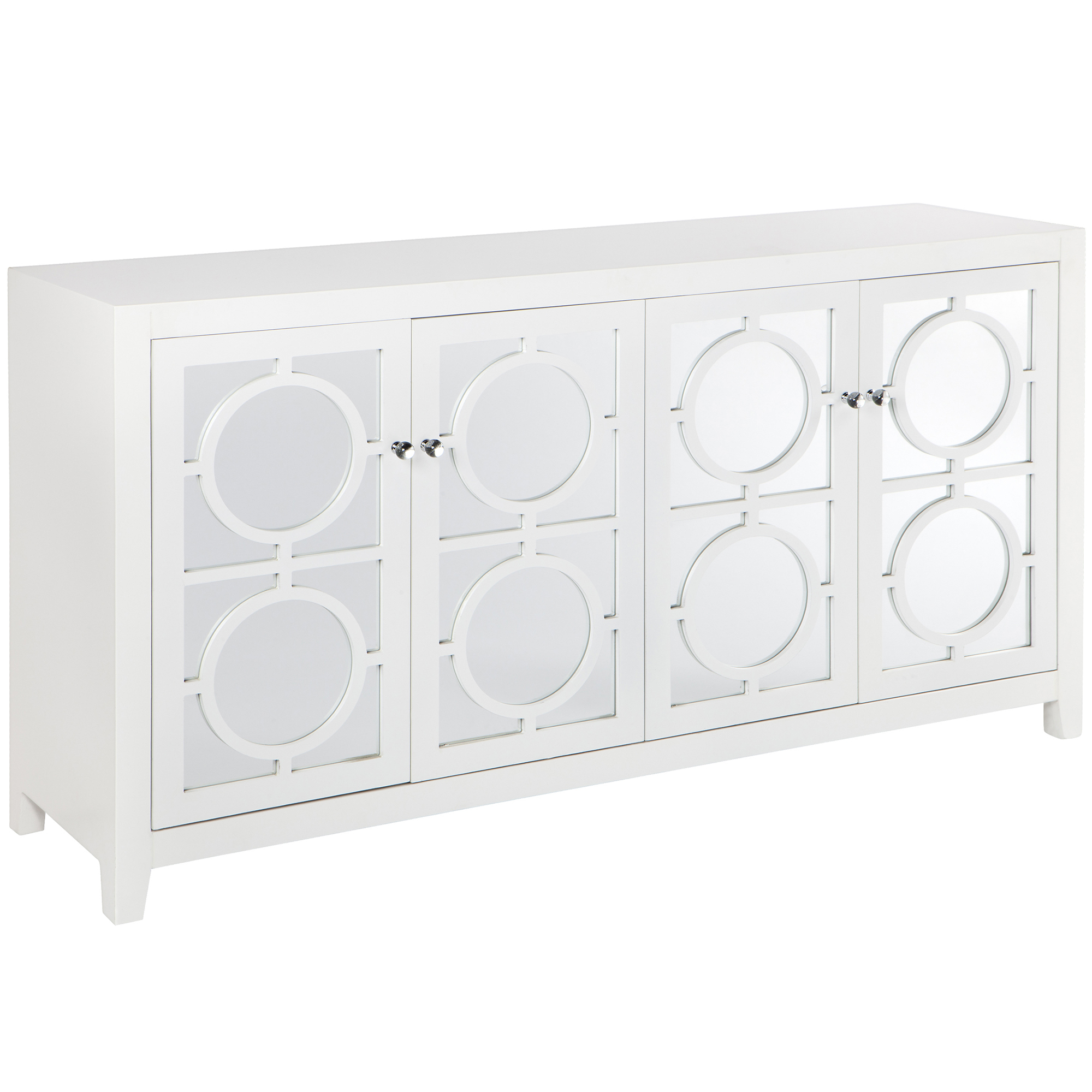 White Catalina Mirrored Luxe Buffet within 3-Piece Mirrored Buffets (Image 26 of 30)
