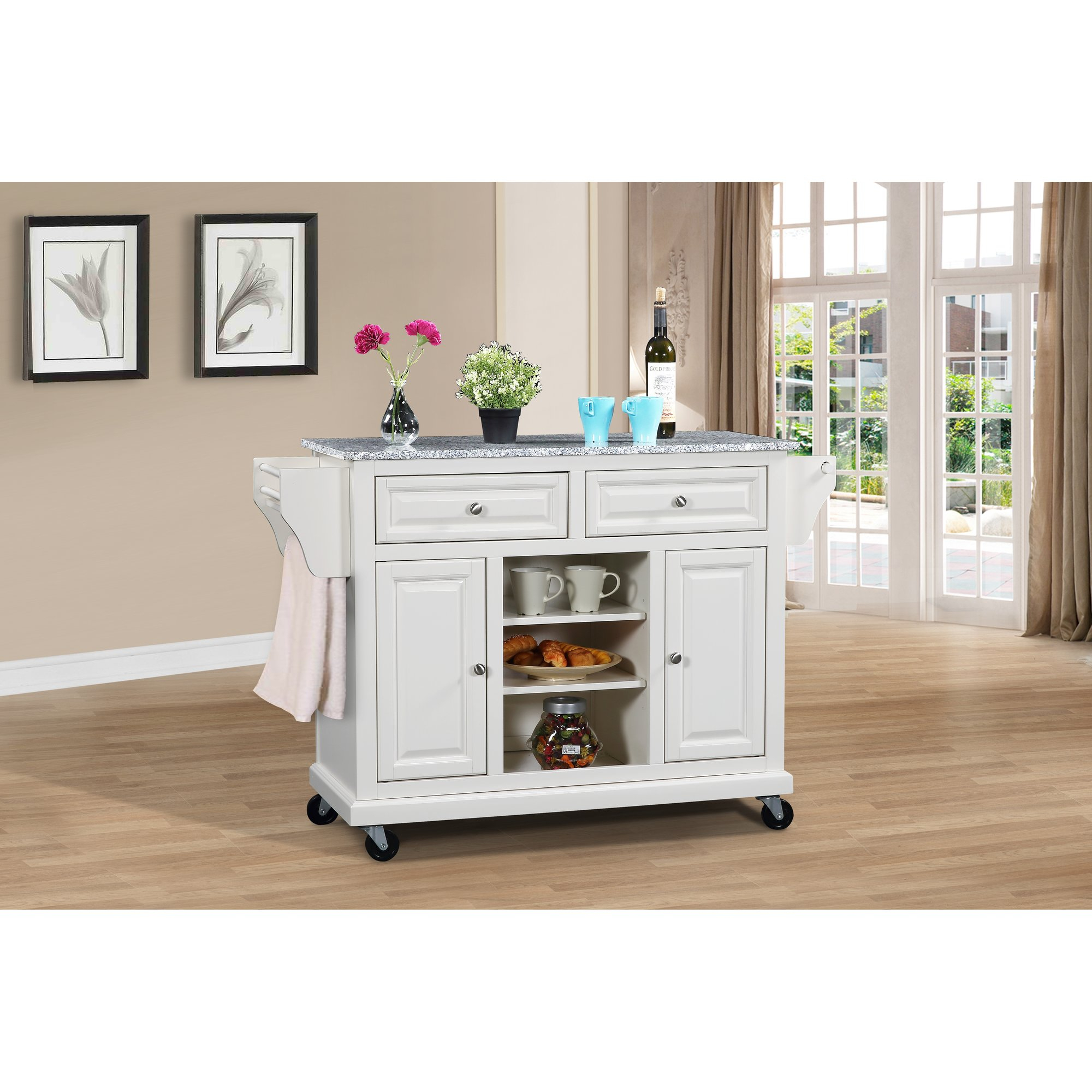 Wildon Home Kitchen Island With Granite Top Reviews New Age intended for Sideboards By Wildon Home (Image 25 of 30)