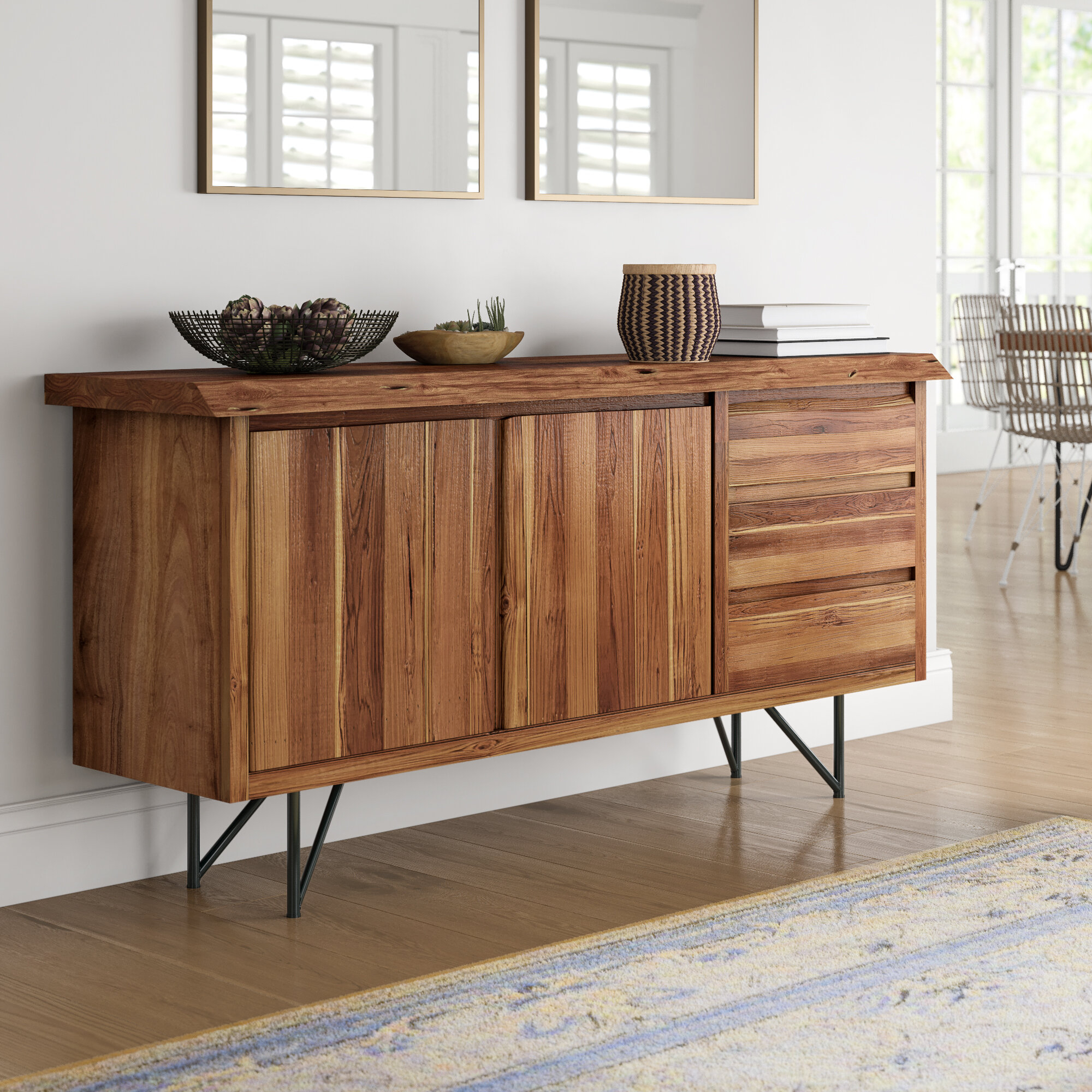 Winschoten Buffet Table Pertaining To Industrial Style 3 Drawer Buffets (View 28 of 30)