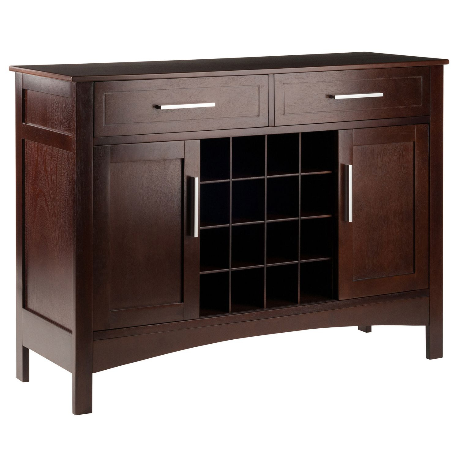 Winsome Gordon Buffet Cabinet/sideboard Cappuccino Finish Regarding Cappuccino Finished Buffets (View 28 of 30)