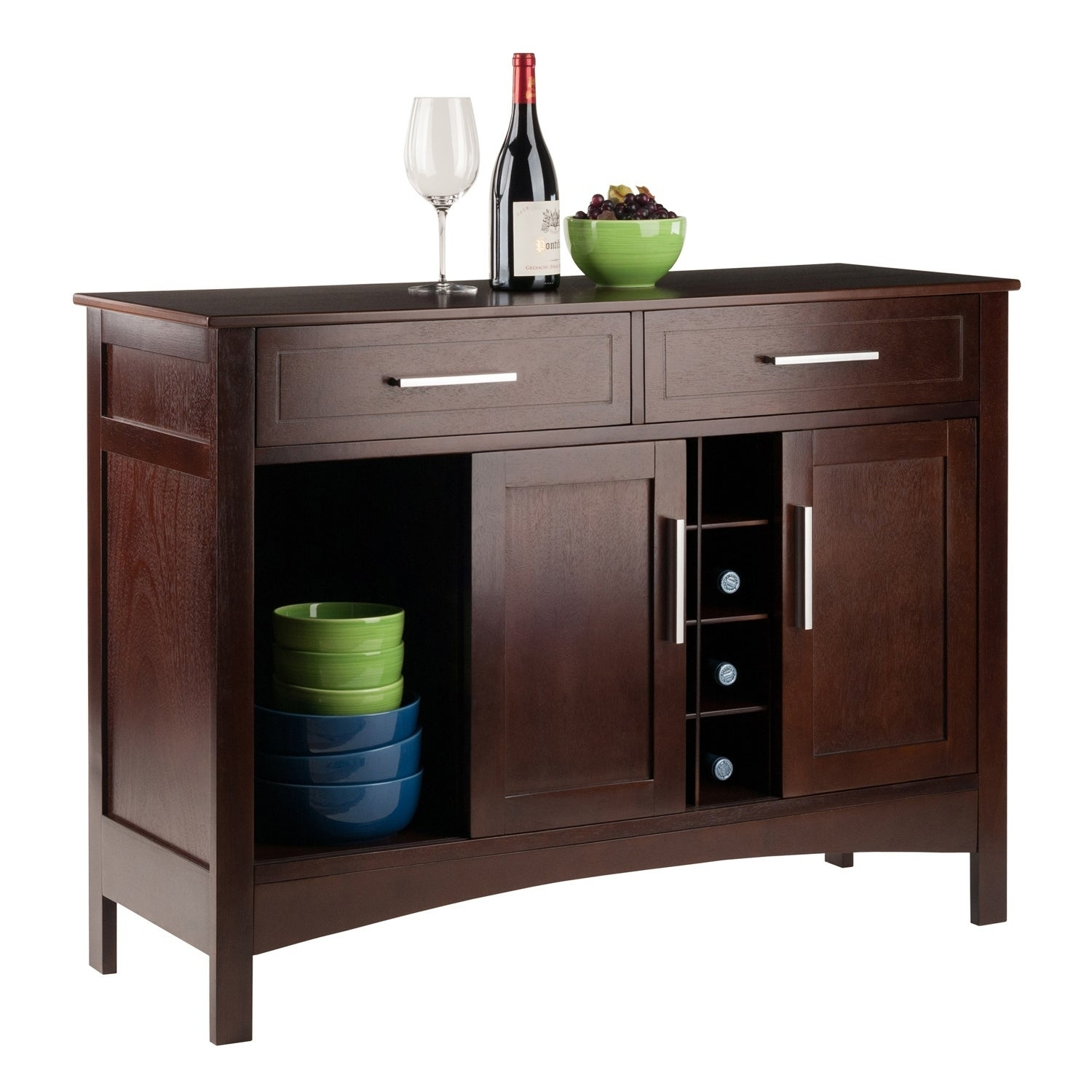 Featured Photo of Solid And Composite Wood Buffets In Cappuccino Finish
