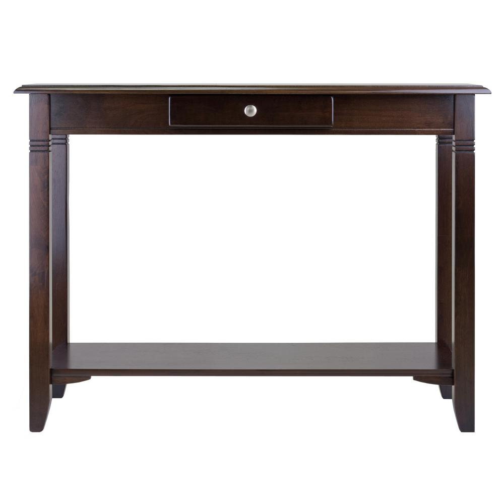 Winsome Wood Nolan Cappuccino Console Table 40640 - The Home regarding Solid and Composite Wood Buffets in Cappuccino Finish (Image 28 of 30)