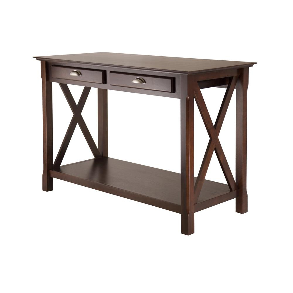 Winsome Wood Xola Cappuccino Console Table 40544 - The Home with Solid and Composite Wood Buffets in Cappuccino Finish (Image 29 of 30)