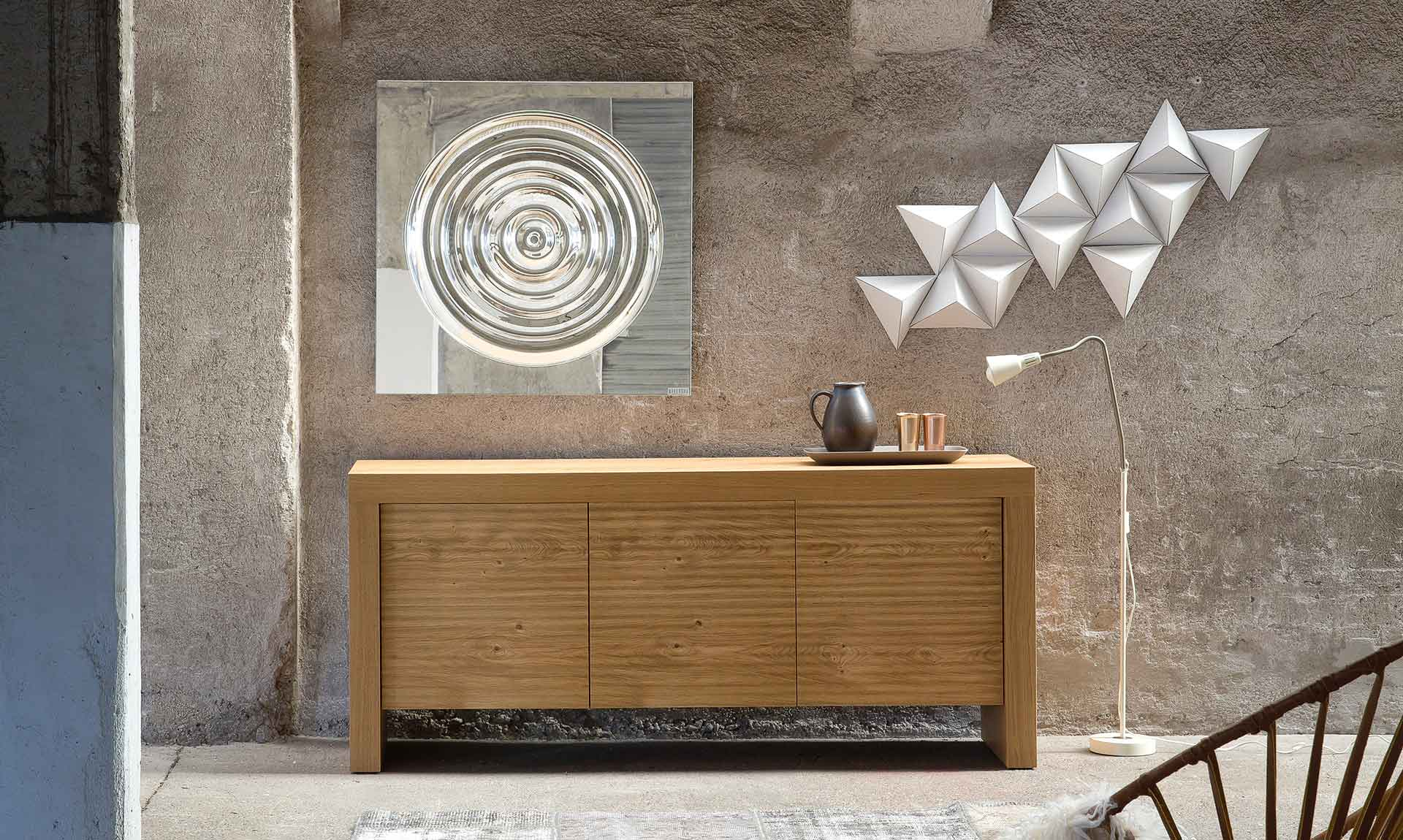 Wooden Sideboard T Wood – Riflessi Inside Copper Leaf Wood Credenzas (View 30 of 30)