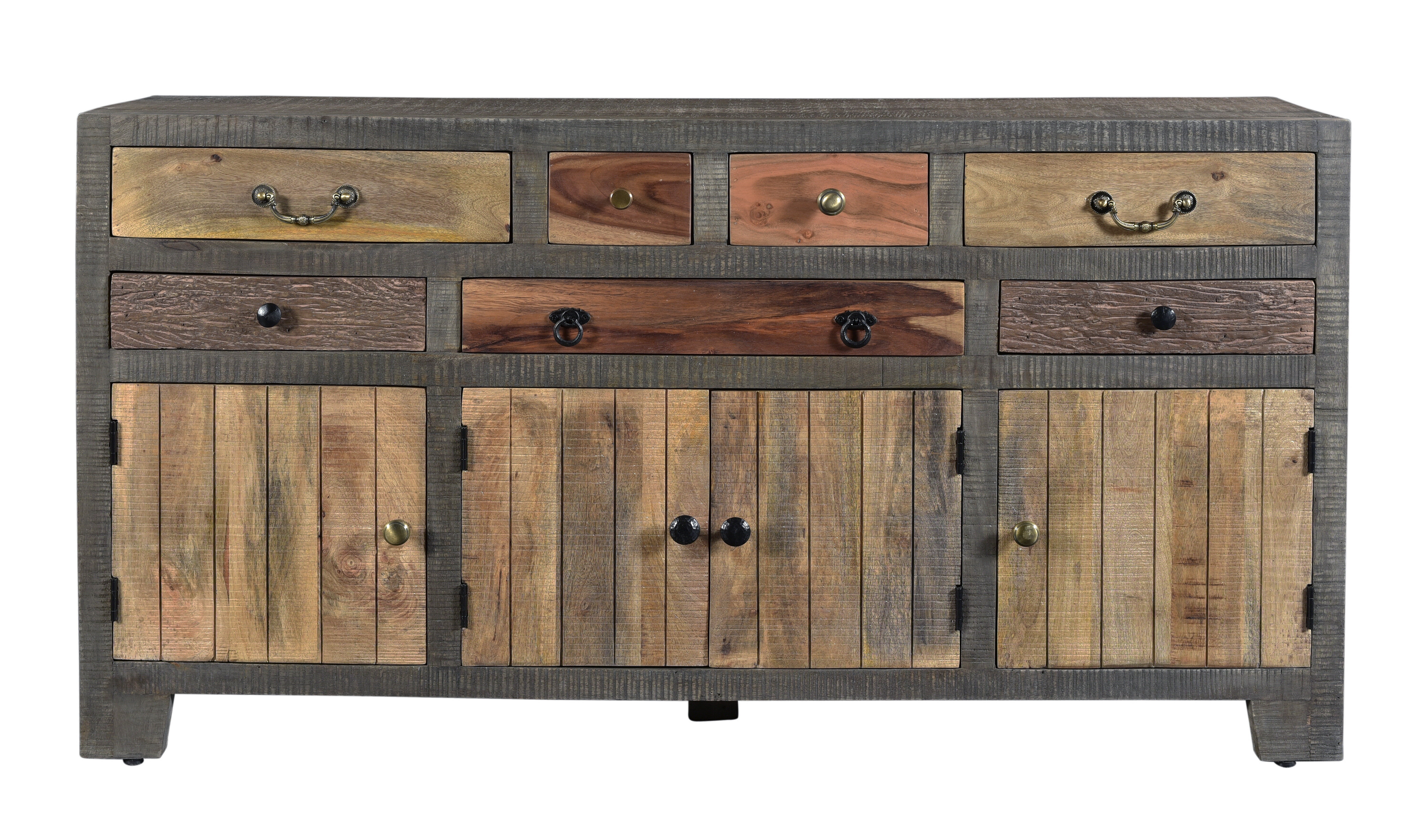 World Menagerie Moultry 7 Drawer 4 Door Sideboard pertaining to Baleine 3 Drawer Sideboards (Image 30 of 30)