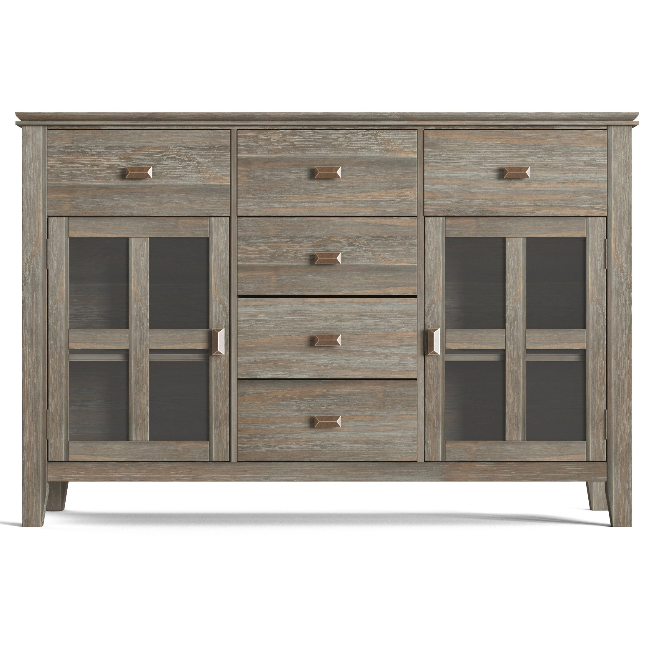 Wyndenhall Stratford Solid Wood 54 Inch Wide Contemporary Sideboard Buffet Credenza – 54 Inch Wide Intended For Solid Wood Contemporary Sideboards Buffets (View 29 of 30)