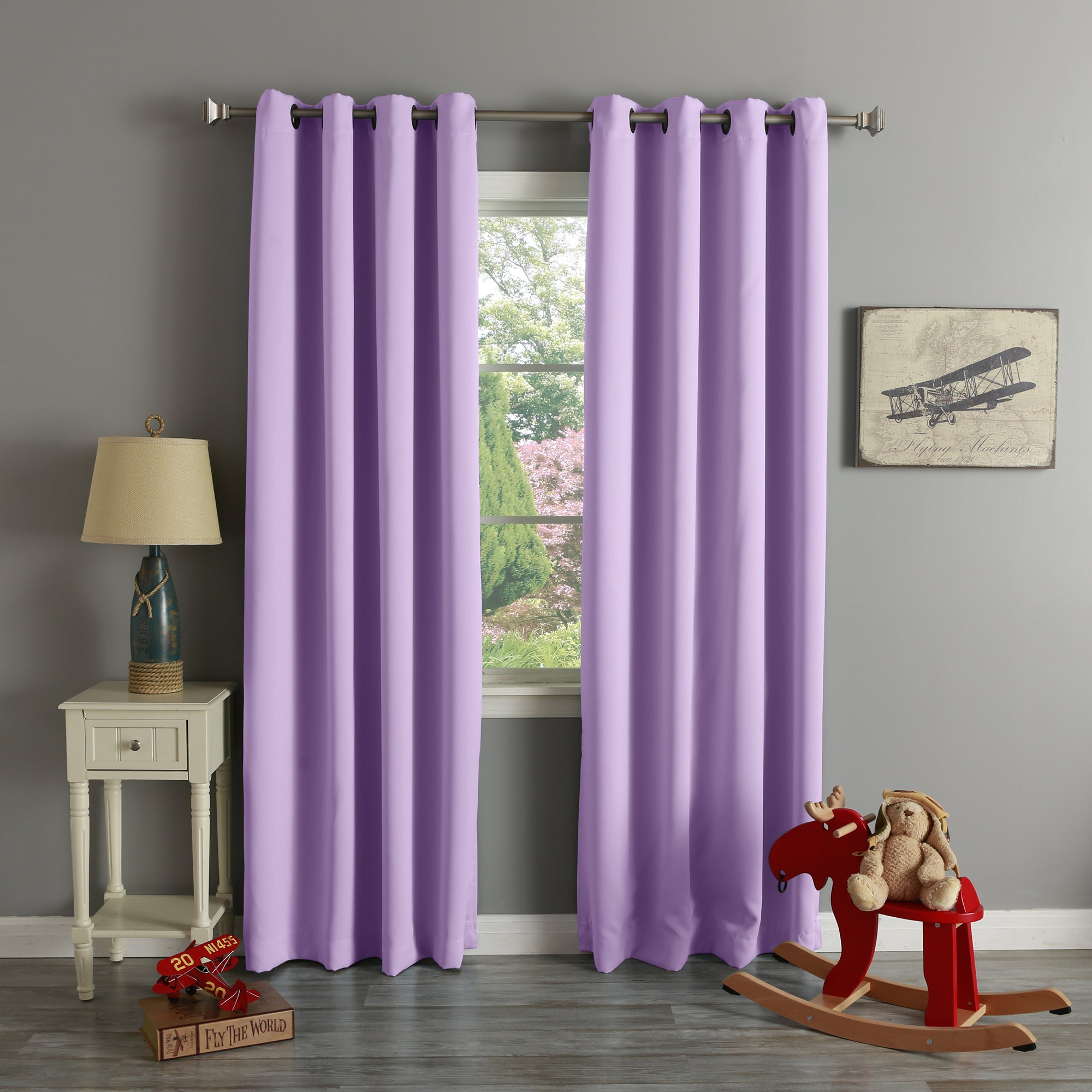 1Cheap Aurora Home Grommet Top Thermal Insulated Blackout Inside Whitman Curtain Panel Pairs (Gallery 29 of 30)